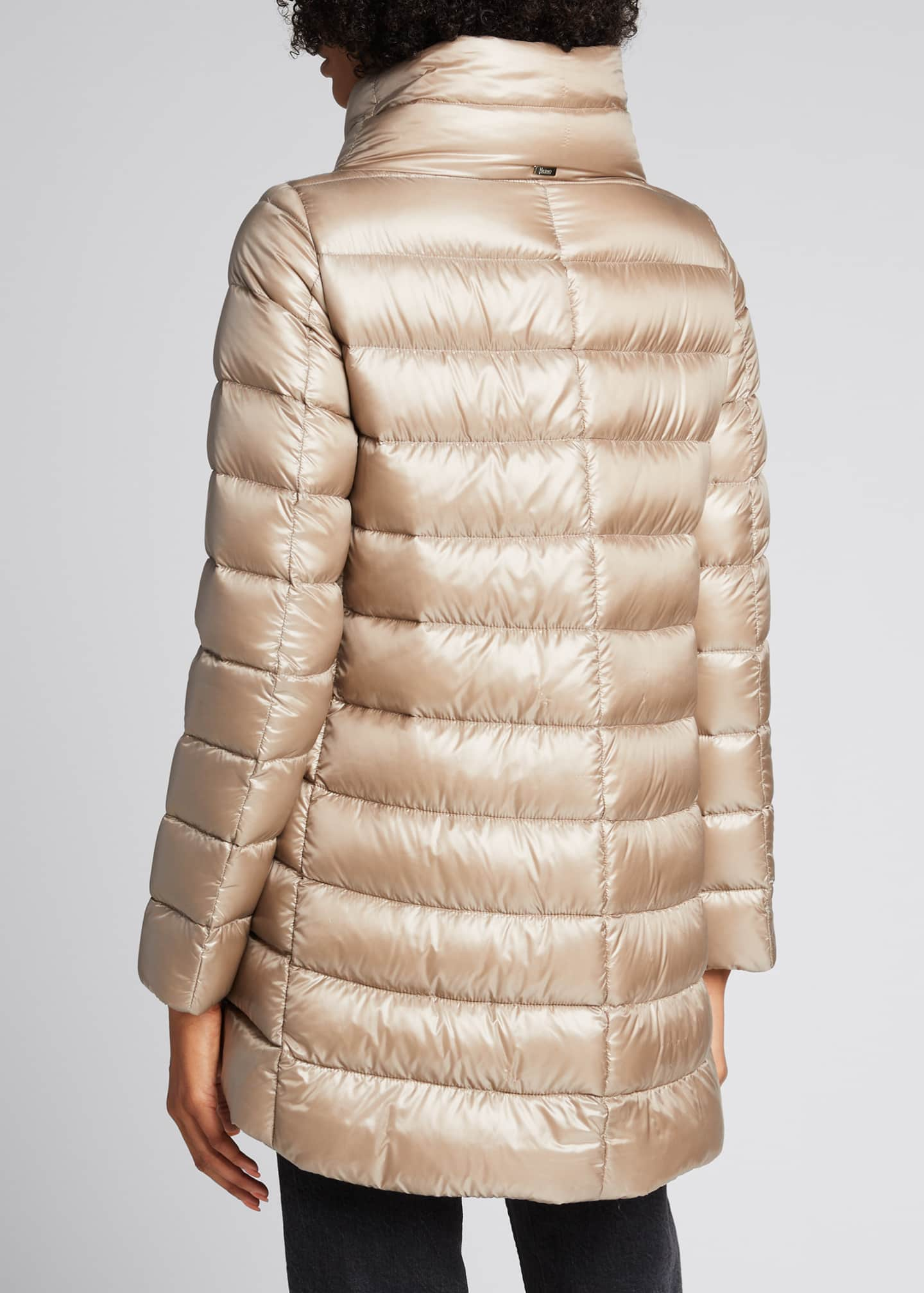 Image 2 of 4: Ribbed High-Low Down Puffer Jacket