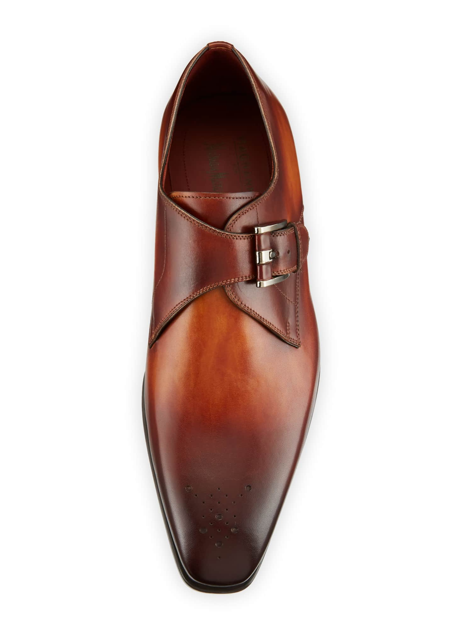 Image 2 of 3: Men's Single-Monk Leather Shoes