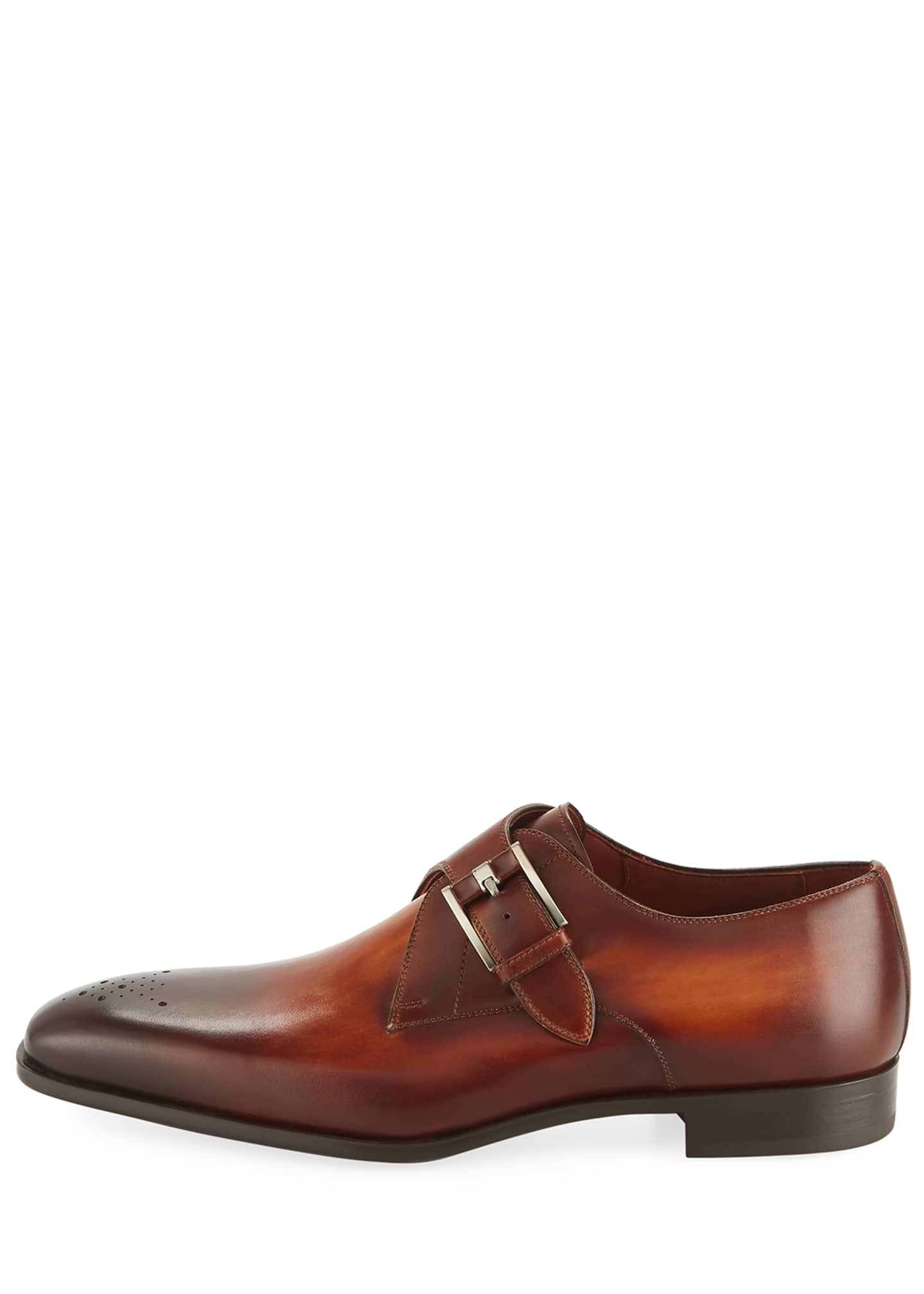 Image 3 of 3: Men's Single-Monk Leather Shoes