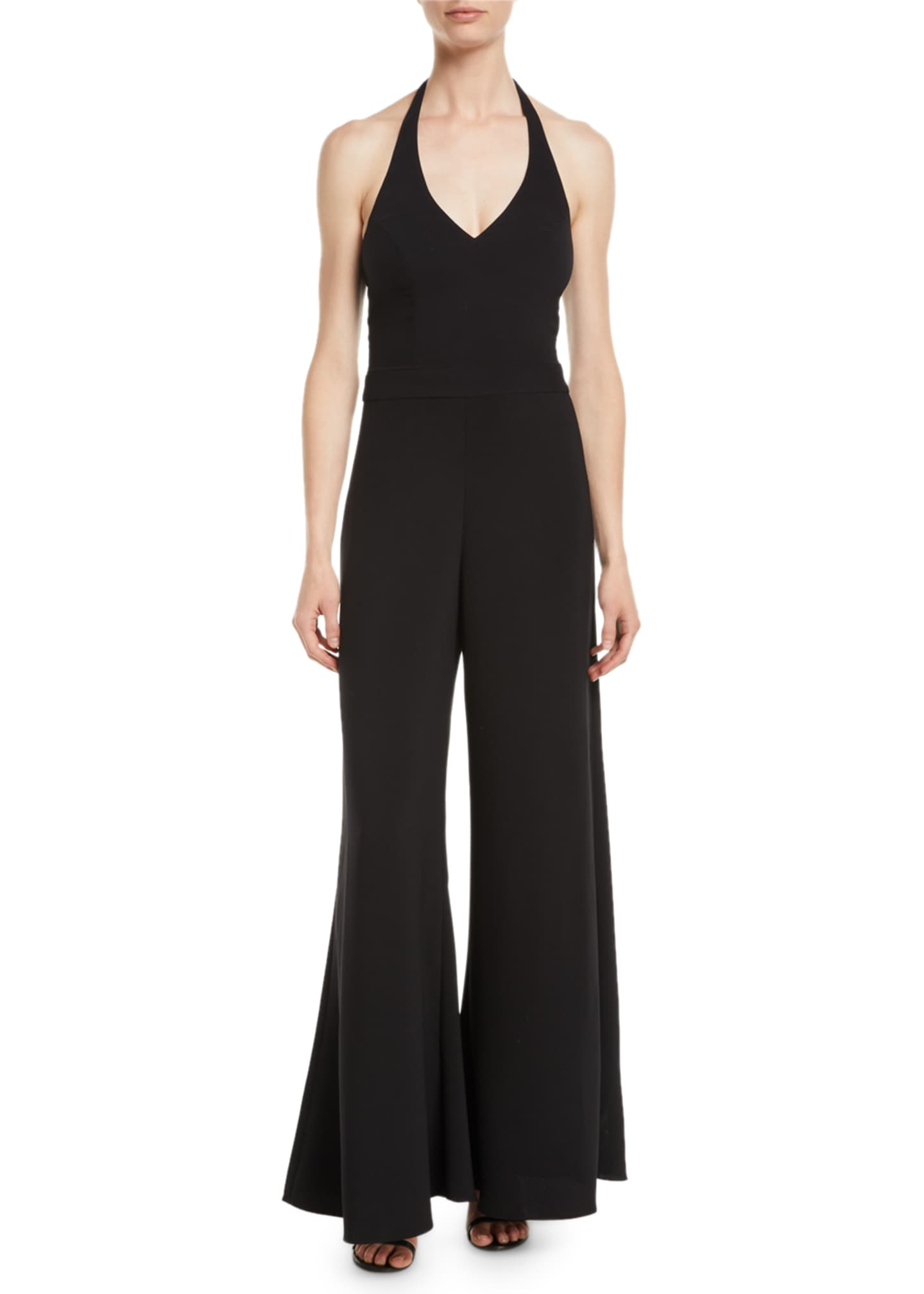 Image 1 of 2: Amaria Wide-Leg Halter Jumpsuit