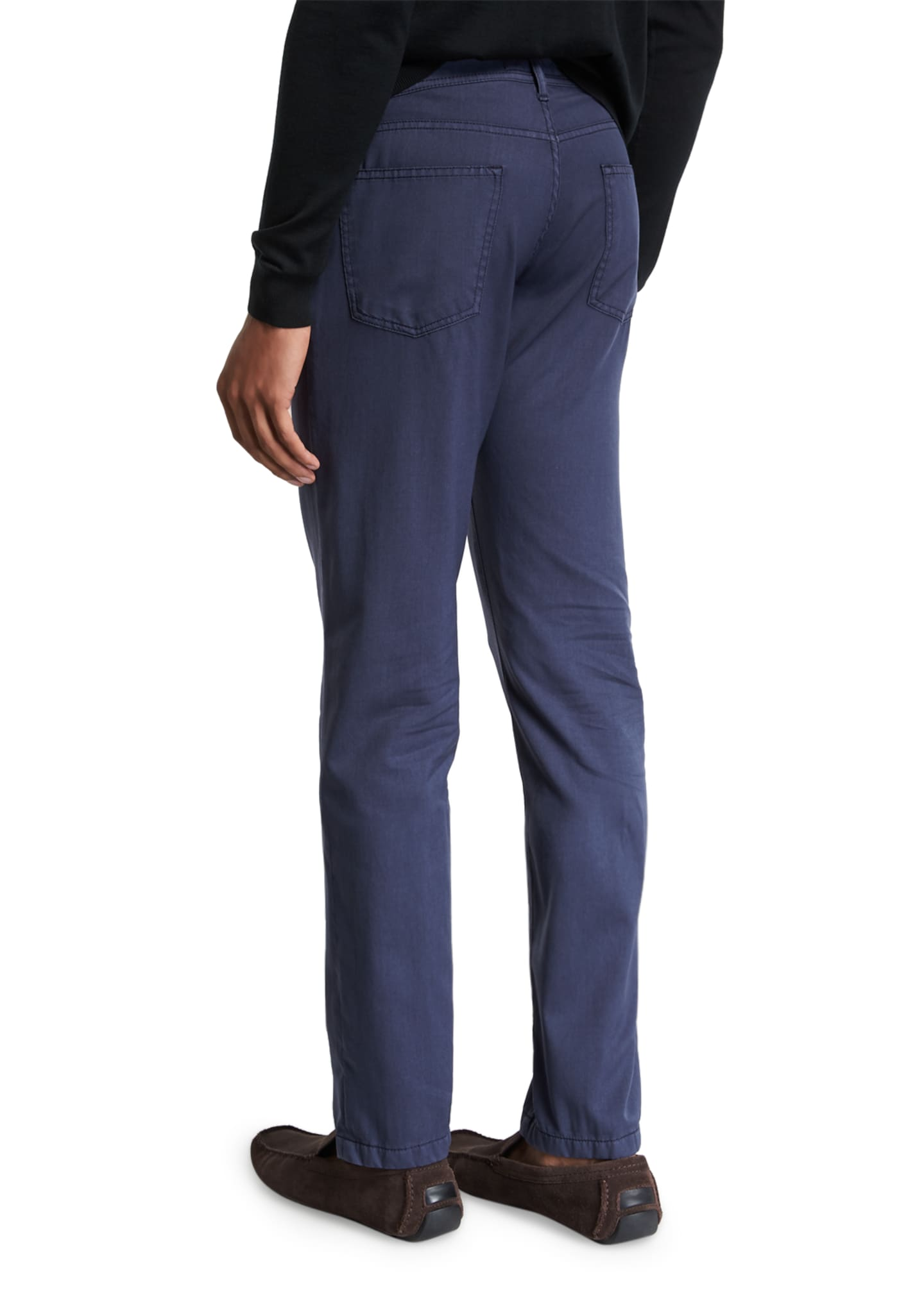 Image 2 of 3: Men's Washed Wool Straight-Leg Pants