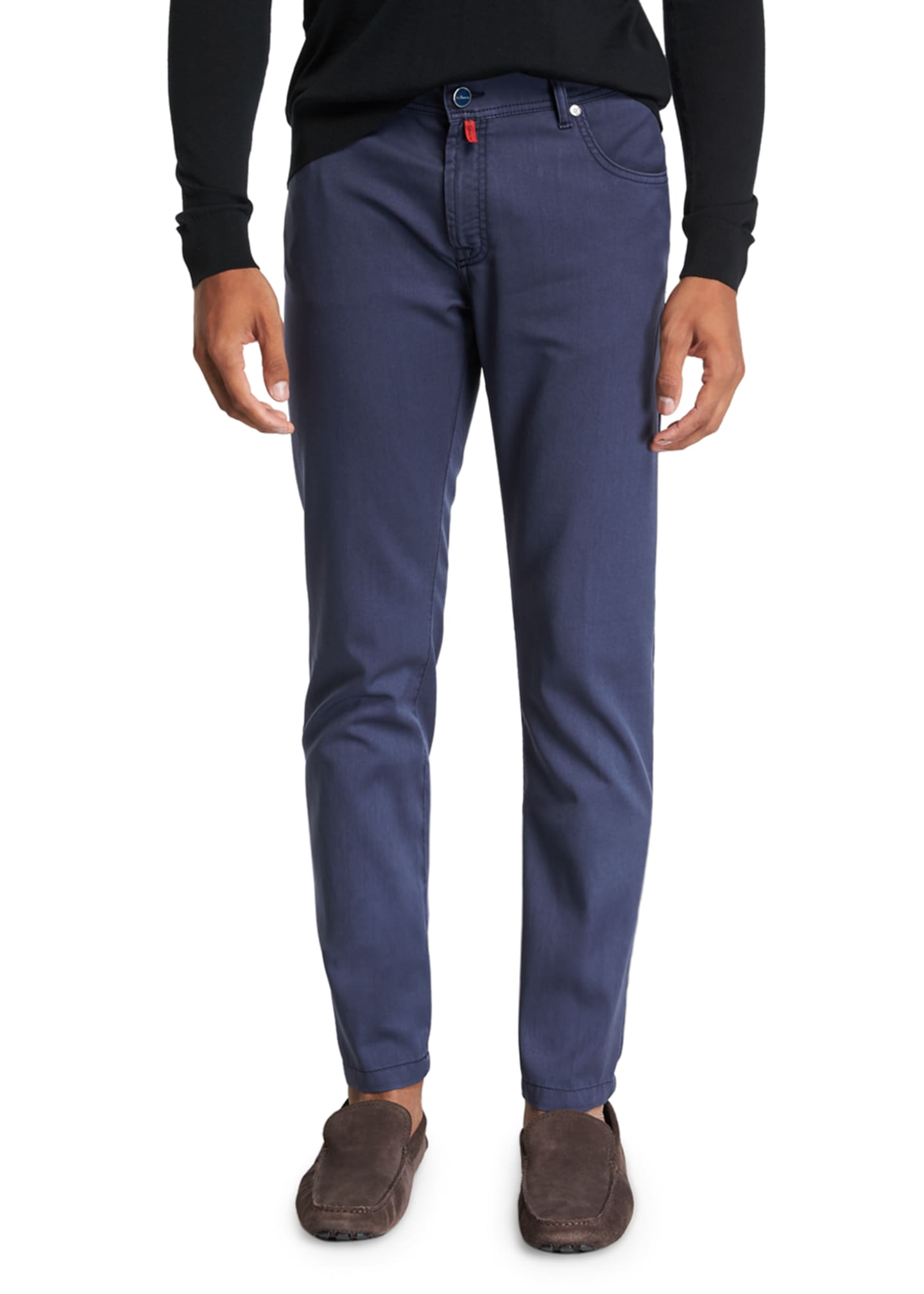 Image 1 of 3: Men's Washed Wool Straight-Leg Pants
