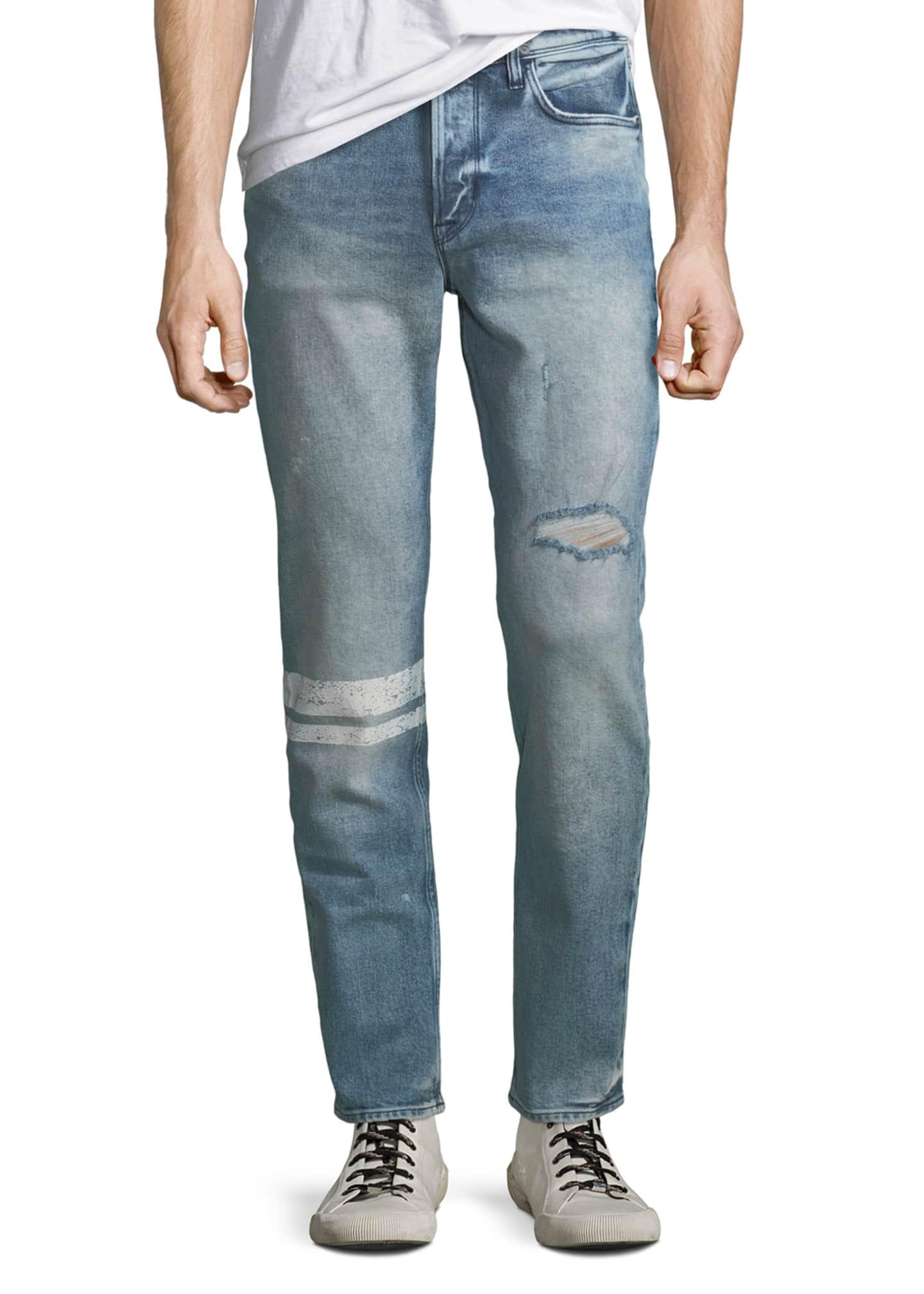 Hudson Men's Sartor Distressed Skinny Jeans