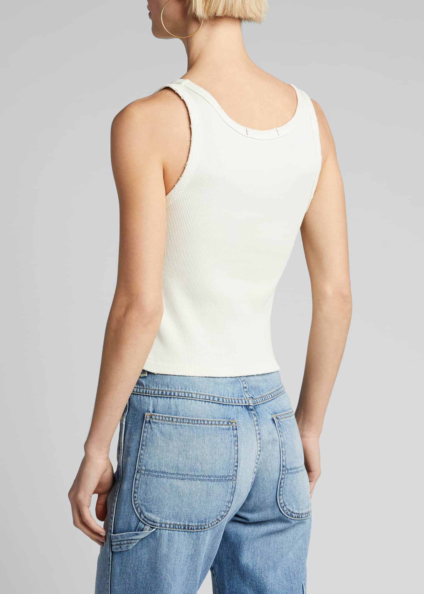 Image 2 of 5: Cropped Ribbed Tank