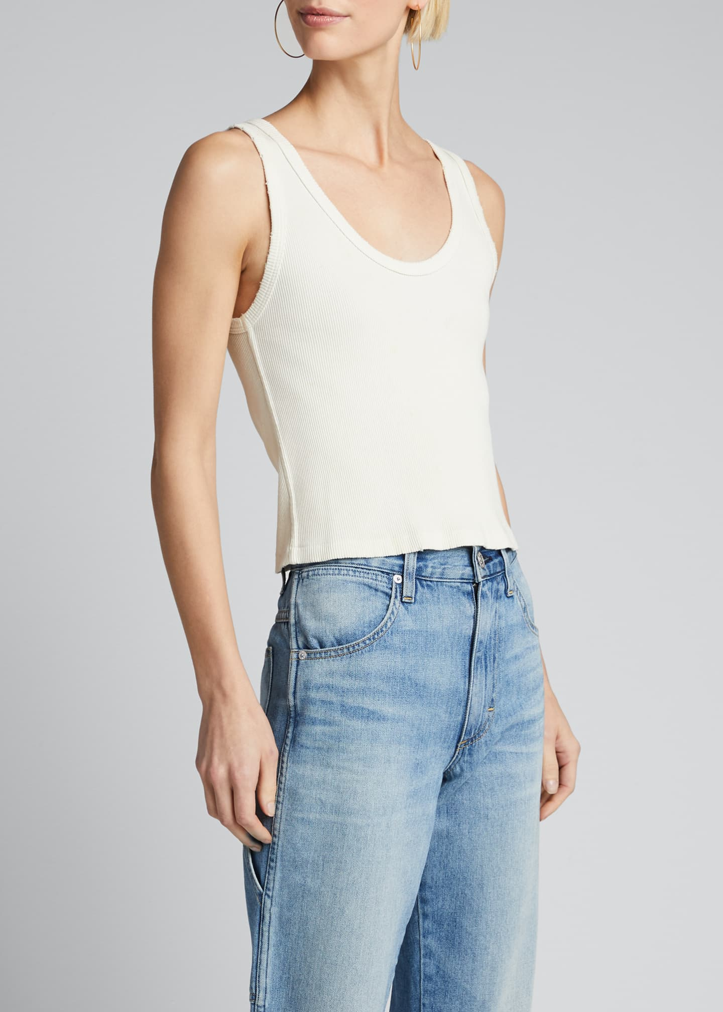 Image 3 of 5: Cropped Ribbed Tank