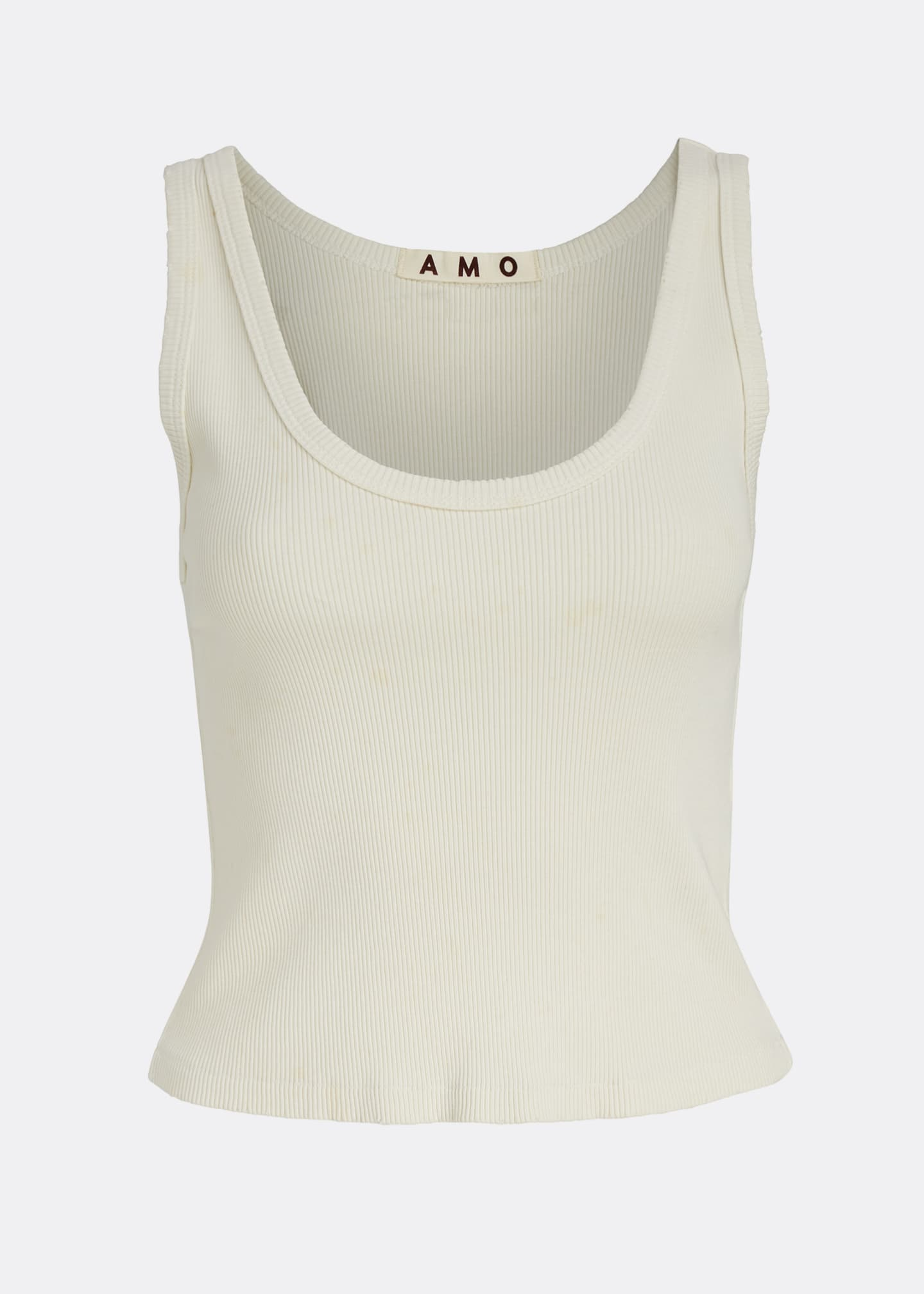 Image 5 of 5: Cropped Ribbed Tank