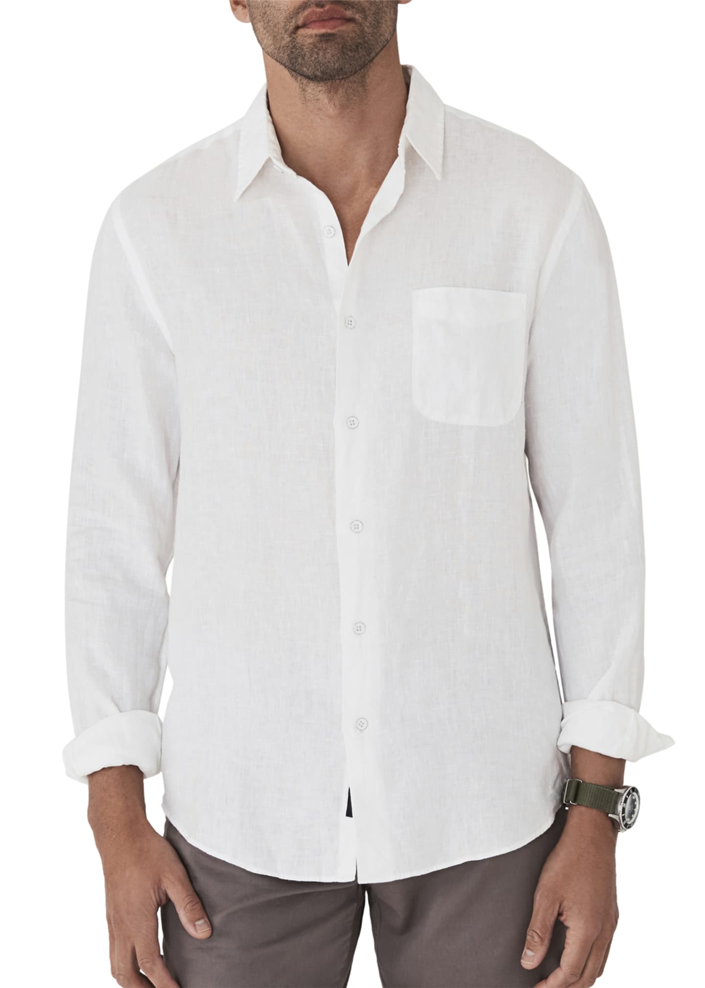 Image 1 of 2: Men's Laguna Linen Sport Shirt