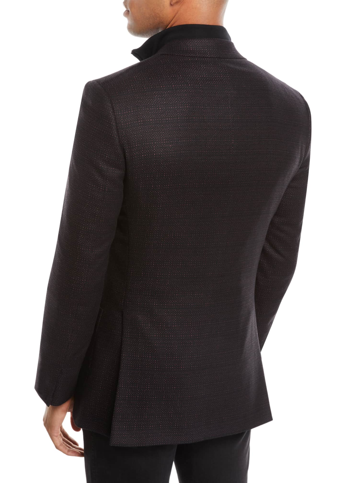 Image 2 of 3: Men's Tic Cashmere Two-Button Blazer Jacket