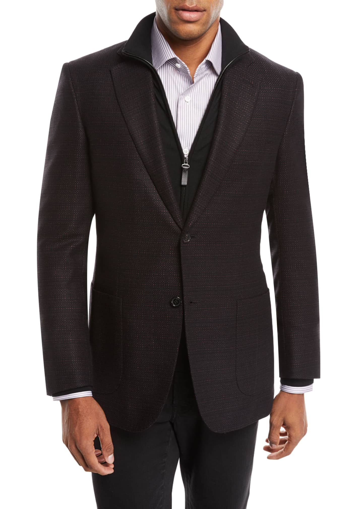 Image 1 of 3: Men's Tic Cashmere Two-Button Blazer Jacket