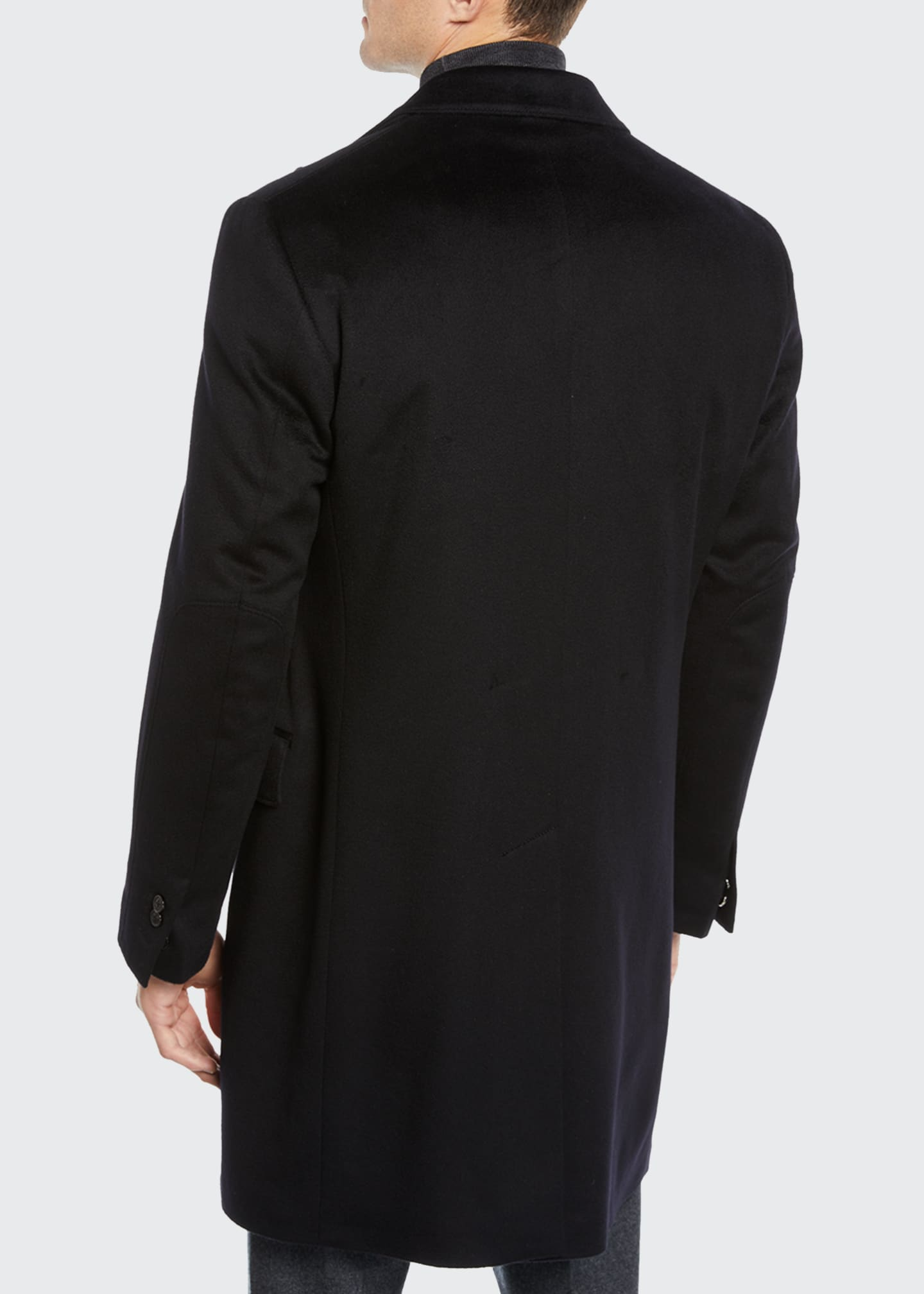 Image 3 of 4: Men's ID Wool Top Coat, Black