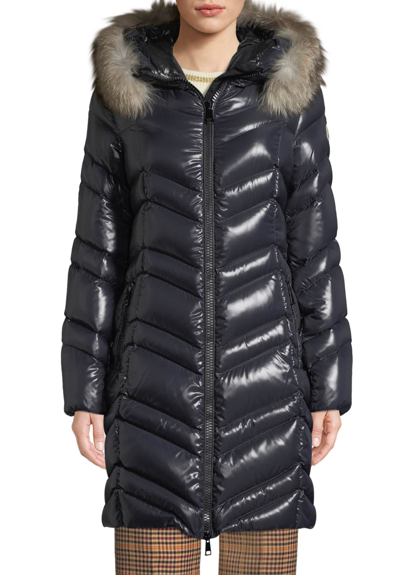 Moncler Fulmar Hooded Puffer Coat w/ Removable Fur