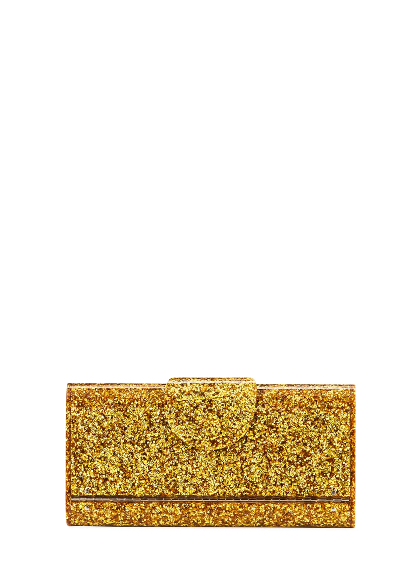 Edie Parker Large Lara Glitter Iceless Clutch Bag