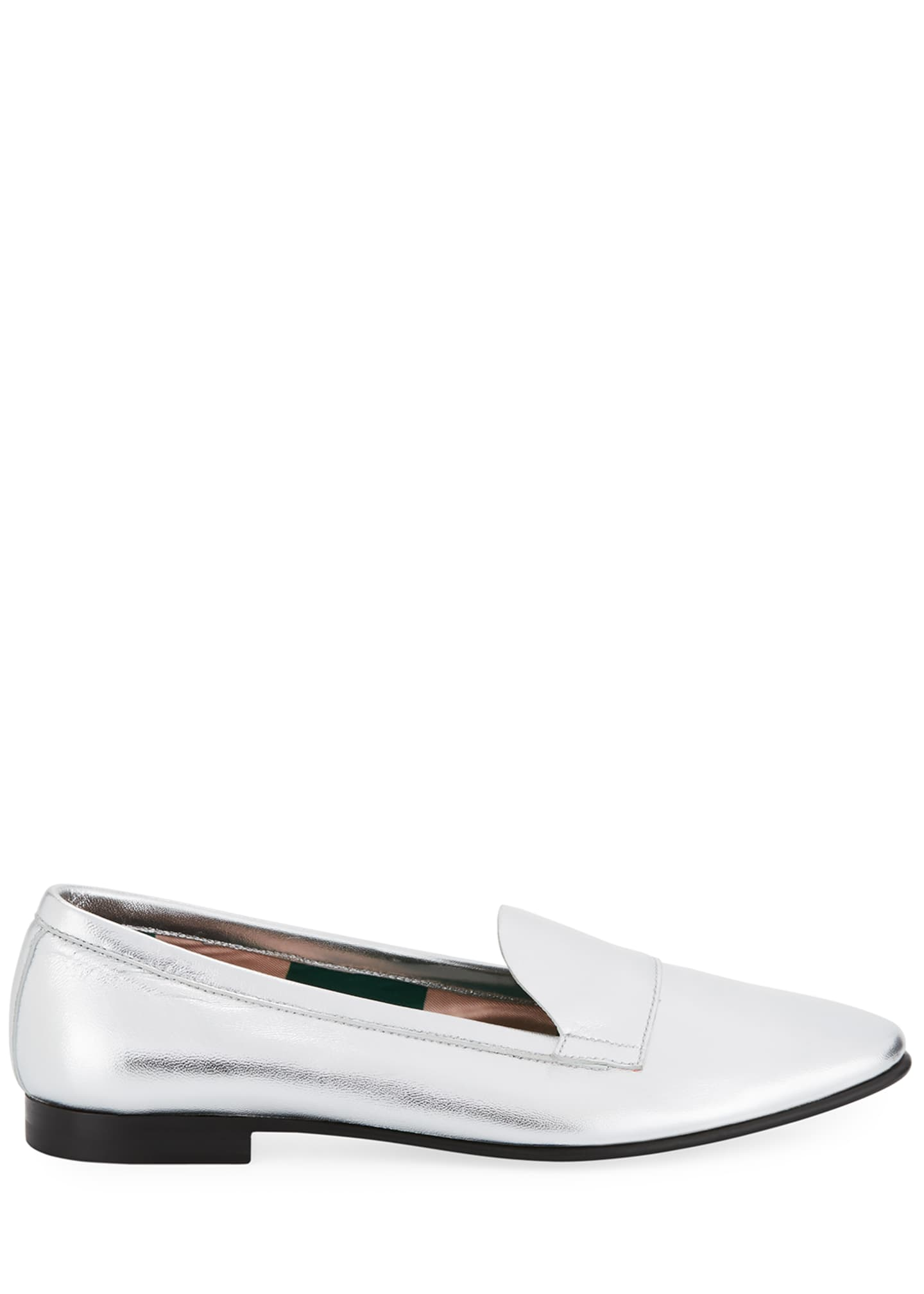Image 2 of 3: Jacno Metallic Flat Loafers