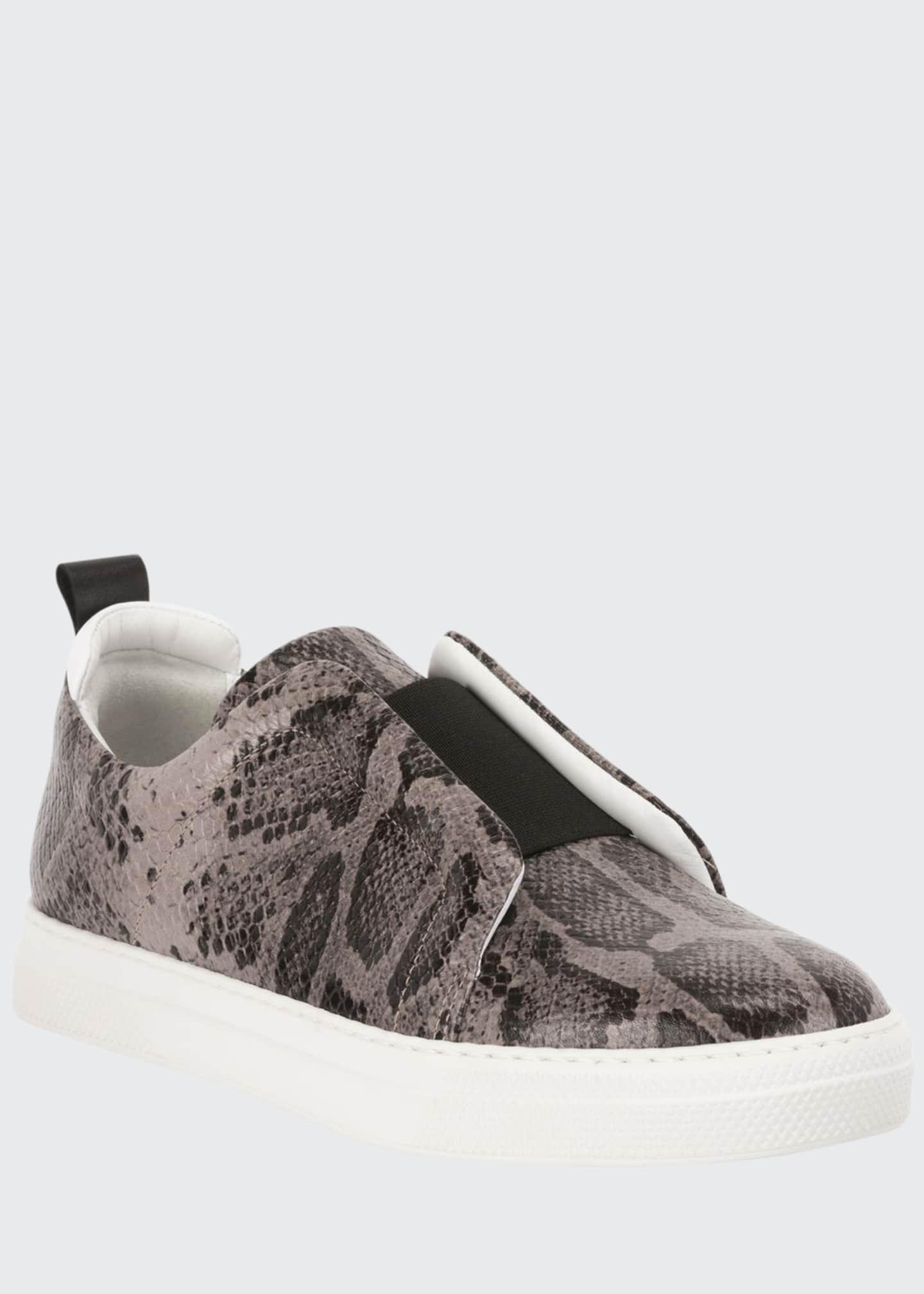 Pierre Hardy Slider Suede Slip-On Low-Top Sneakers