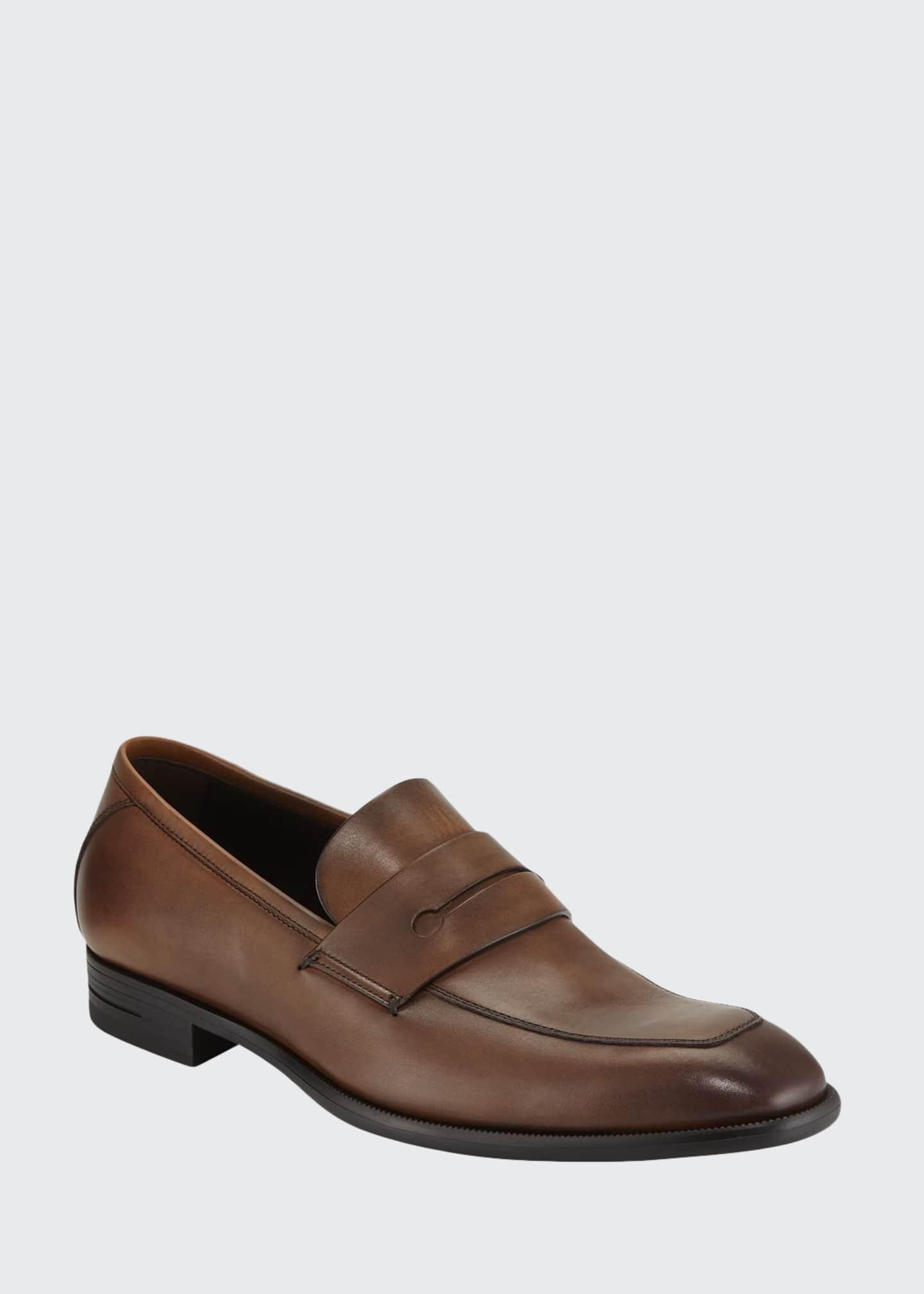 Ermenegildo Zegna Men's New Flex Leather Penny Loafer