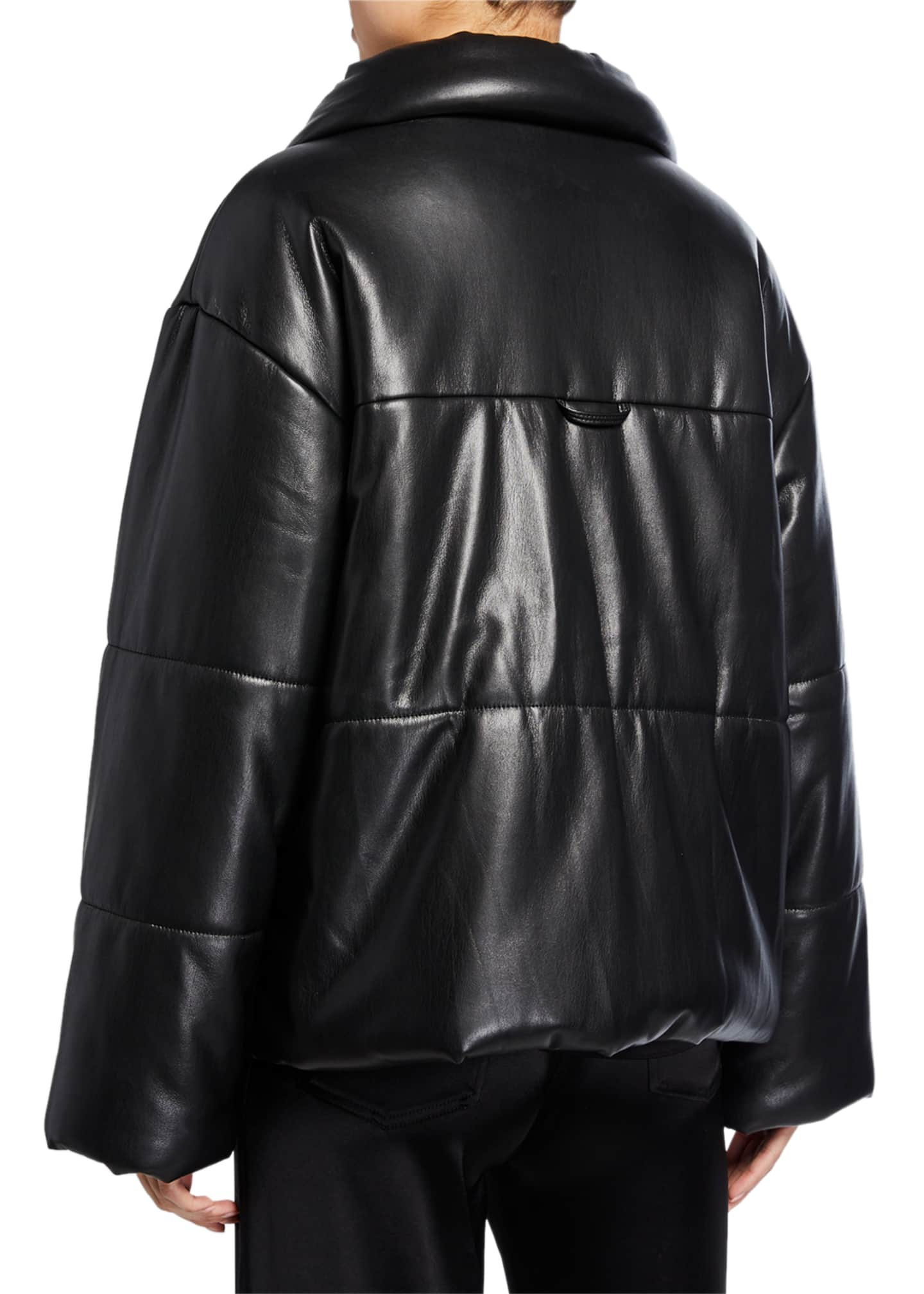Image 3 of 3: Hide Vegan Leather Puffer Jacket