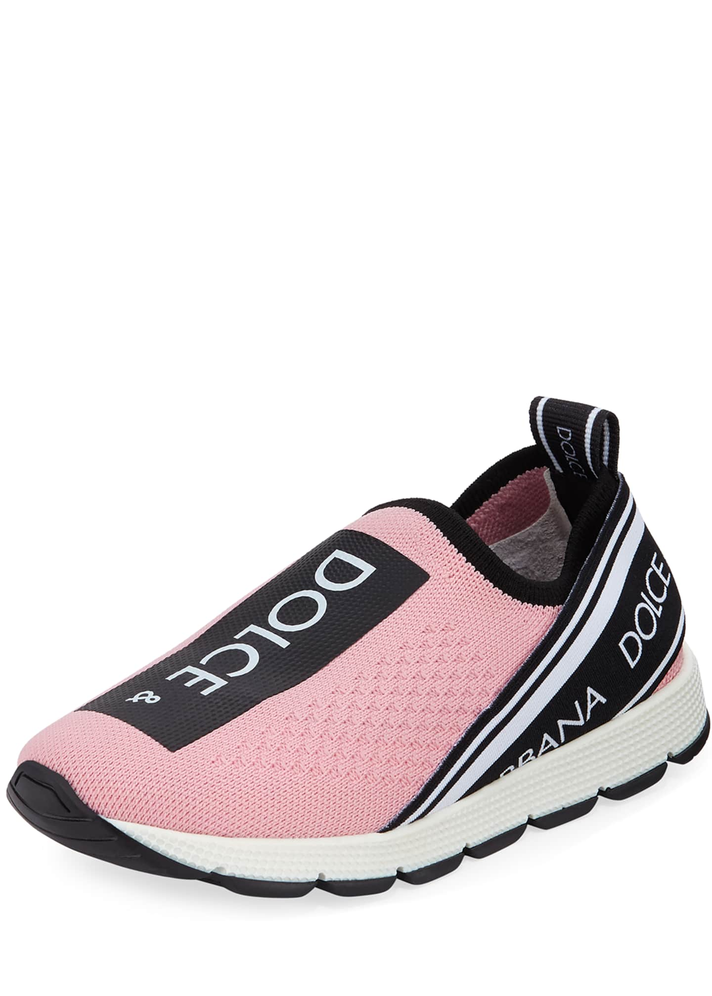 Dolce & Gabbana Maglina Slip-On Knit Logo Sneakers,