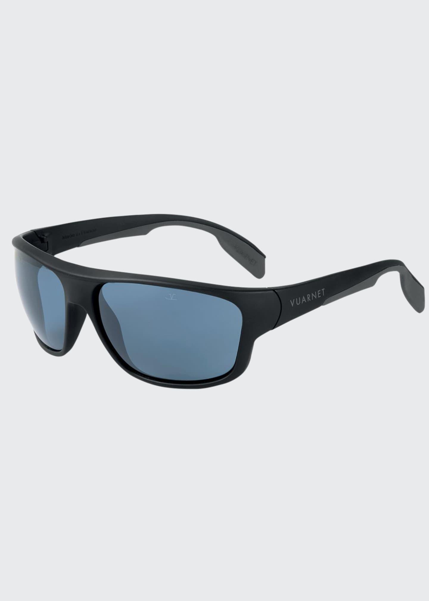 Vuarnet Men's Active Racing Large Nylon Wrap Sunglasses