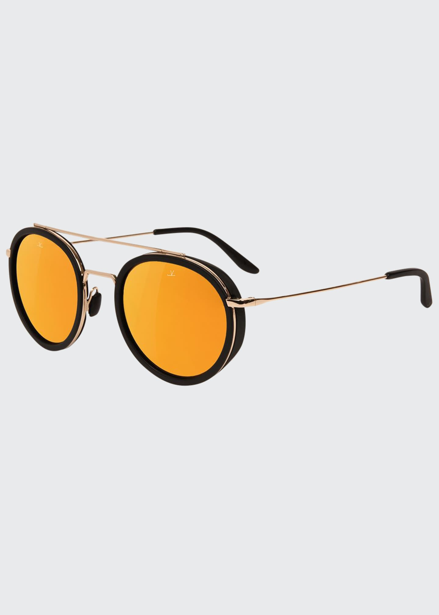 Vuarnet Men's Edge Round Stainless Steel/Acetate Sunglasses
