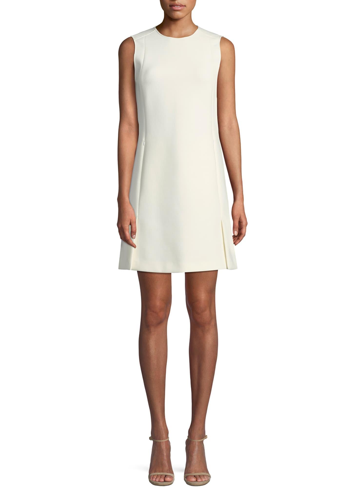 Theory Sleeveless Vent Front Canton Bi-stretch Shift Dress