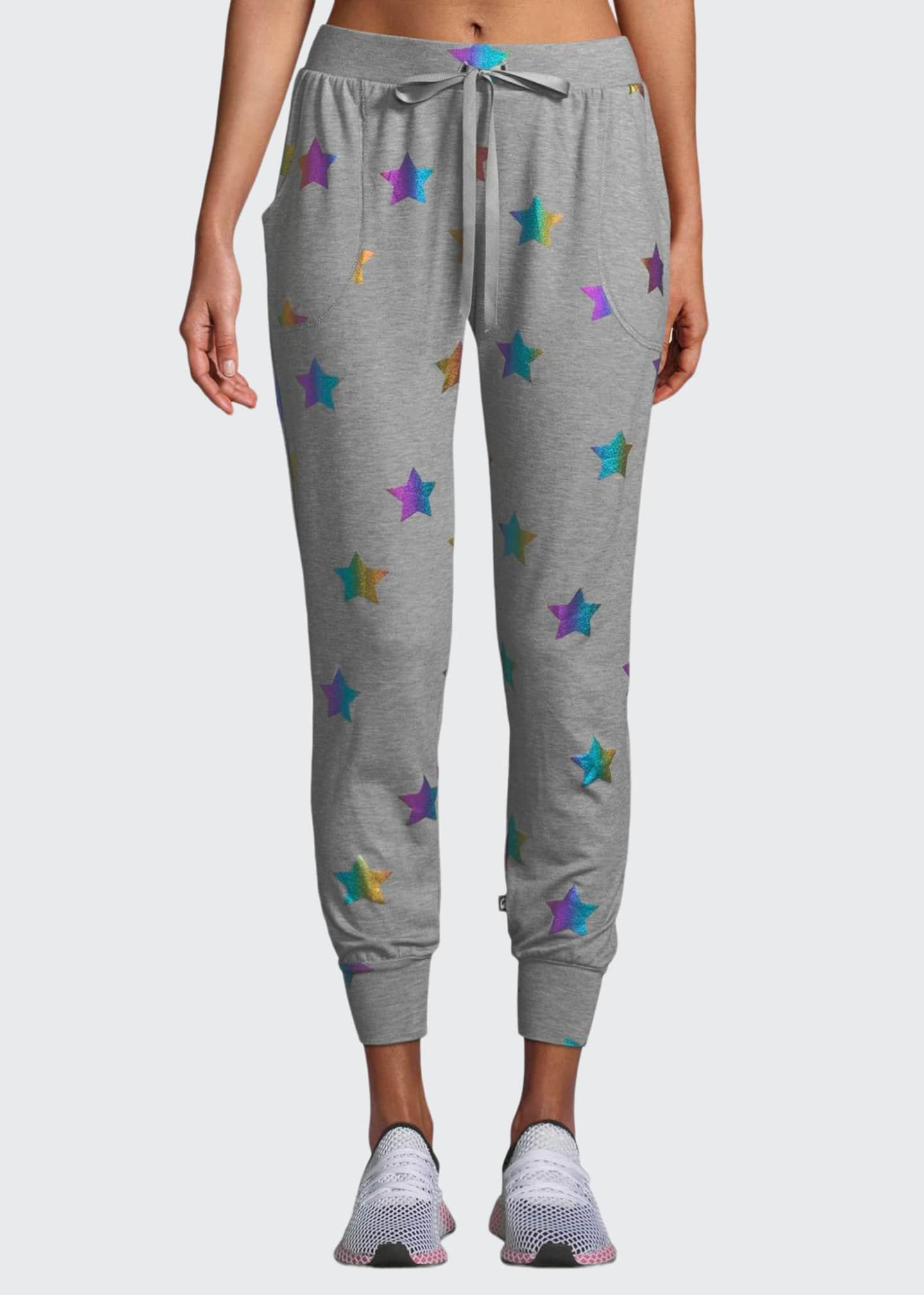 Terez Star Foil Printed Jogger Pants