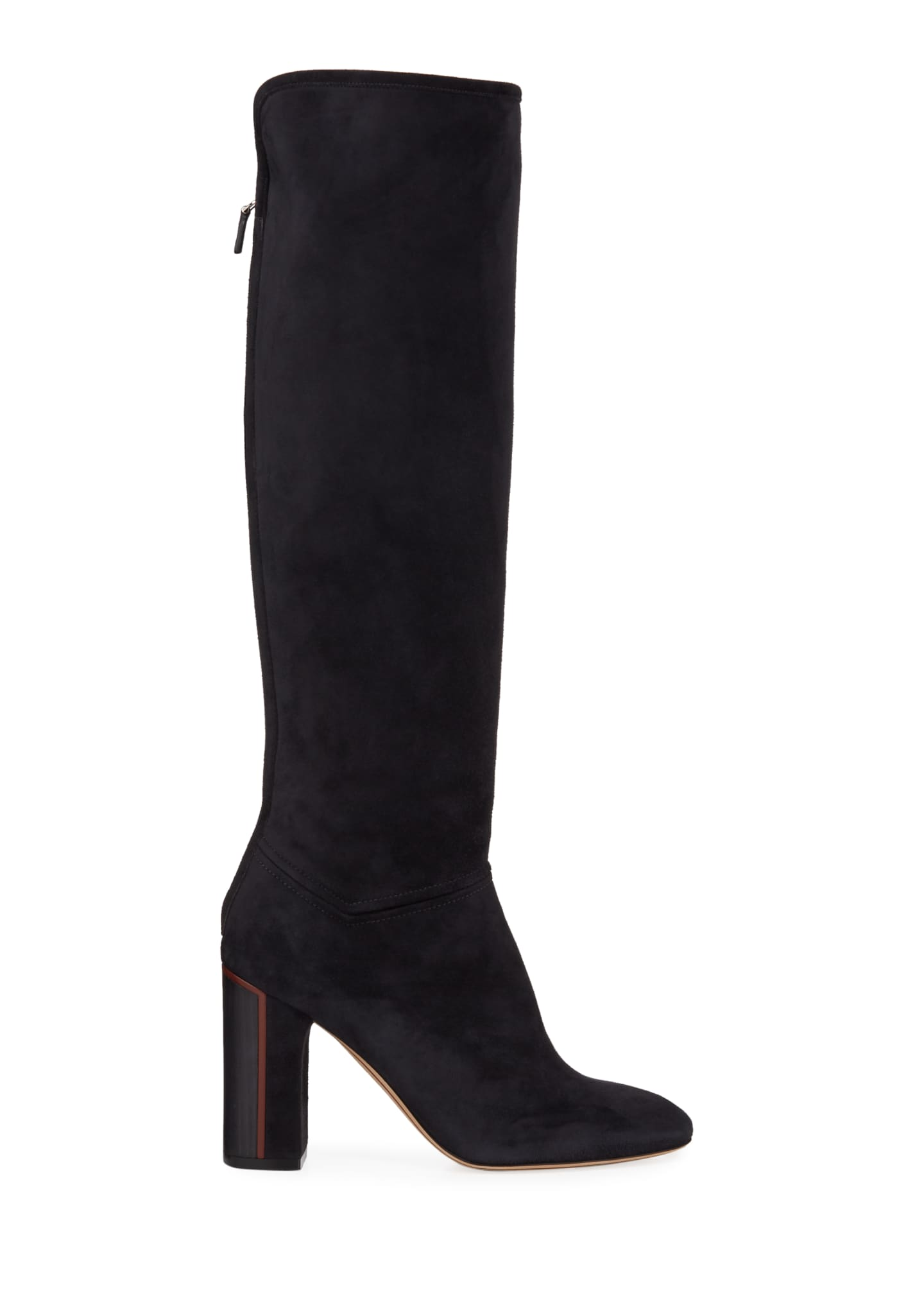 Image 2 of 3: Jeanne Suede Knee Boots