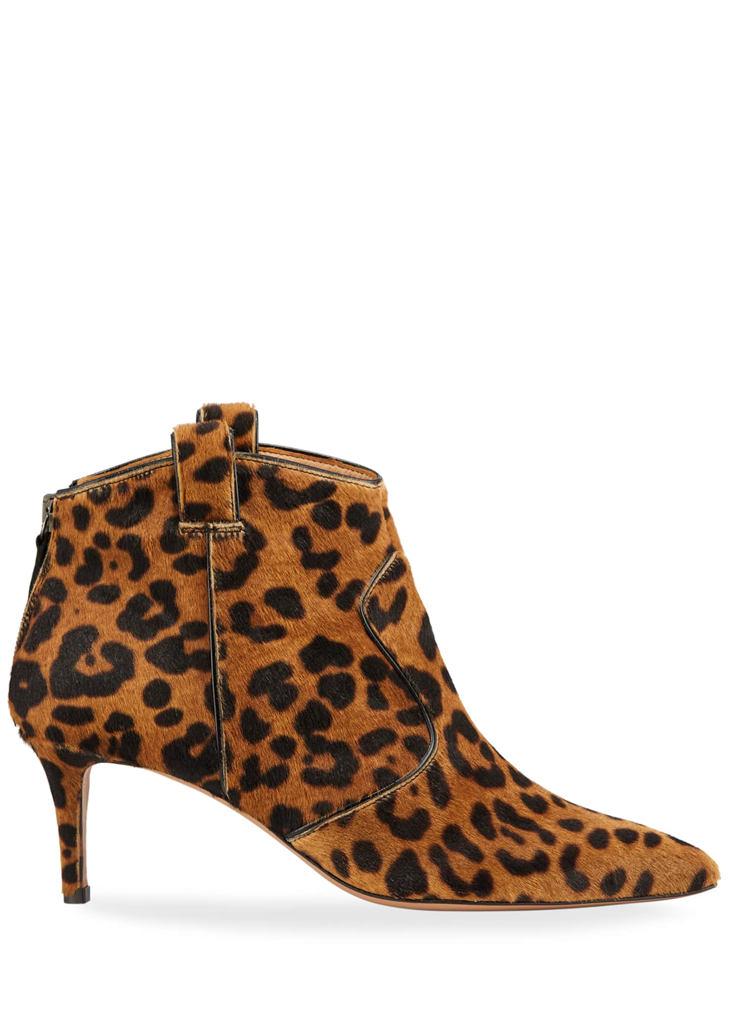 Image 3 of 4: Lexi Leopard-Print Calf Hair Pointed 65mm Booties