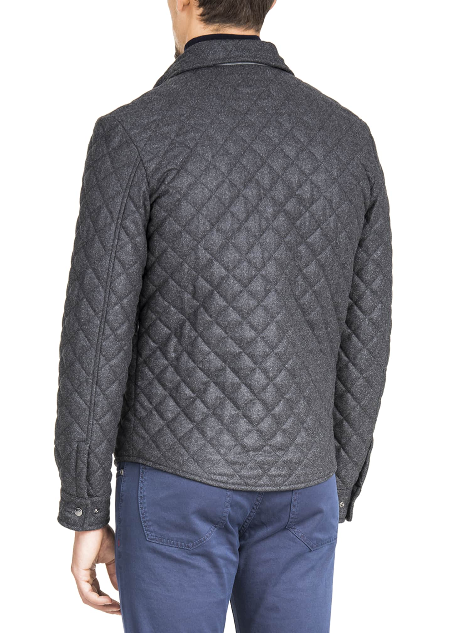 Image 3 of 3: Men's Quilted Snap-Front Shirt Jacket