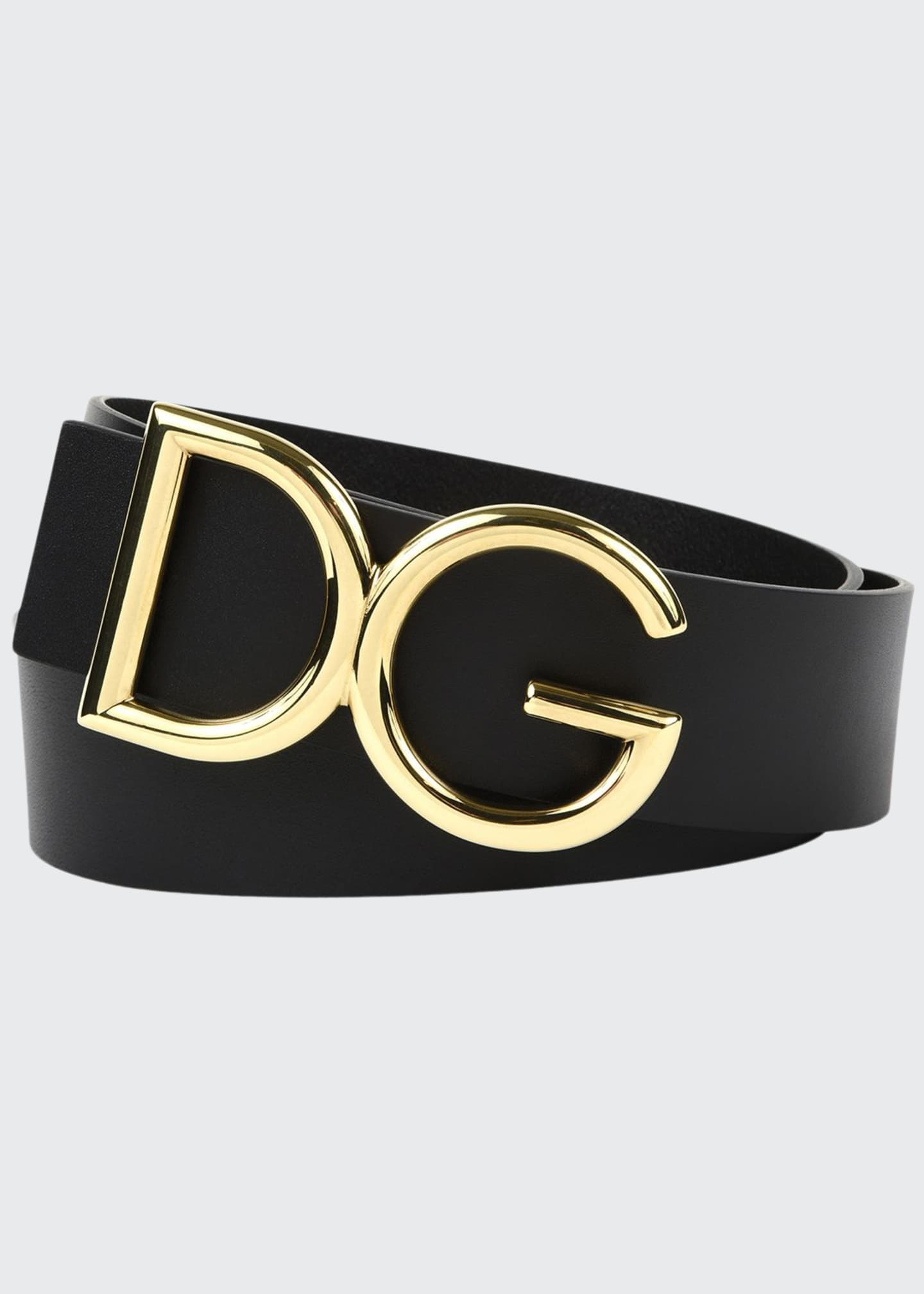 Dolce & Gabbana Men's Leather Belt w/ Logo