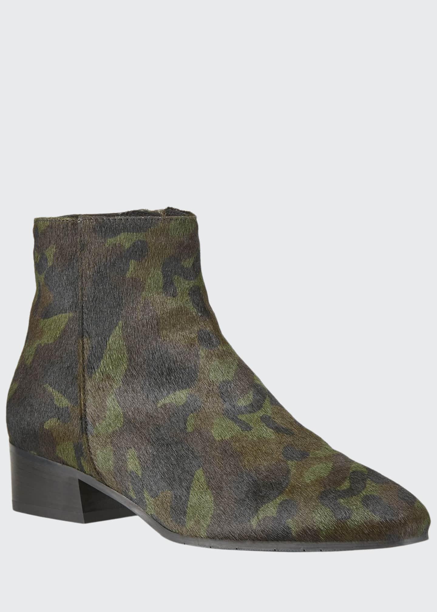 Aquatalia Fuoco Leopard-Print Booties