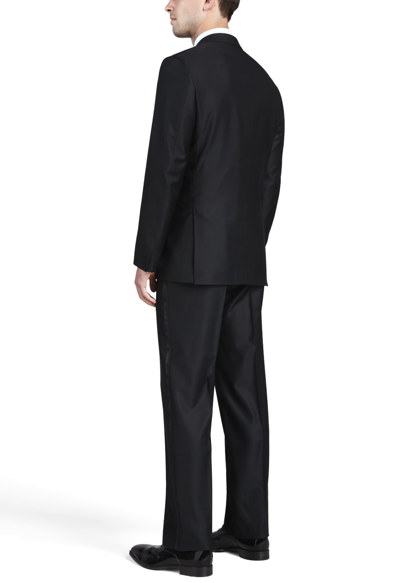 Image 2 of 2: One-Button Peaked-Lapel Tuxedo