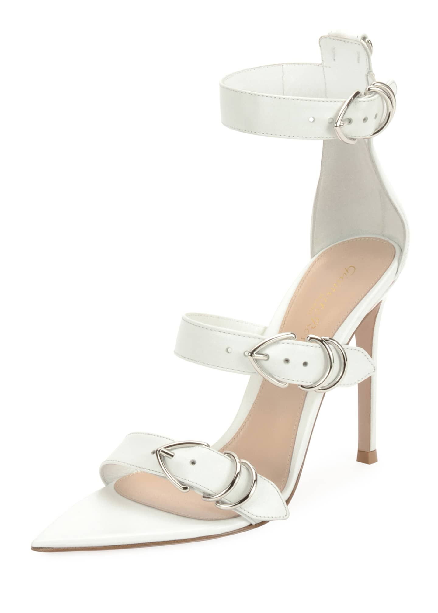 Gianvito Rossi Leather Belted High Sandals
