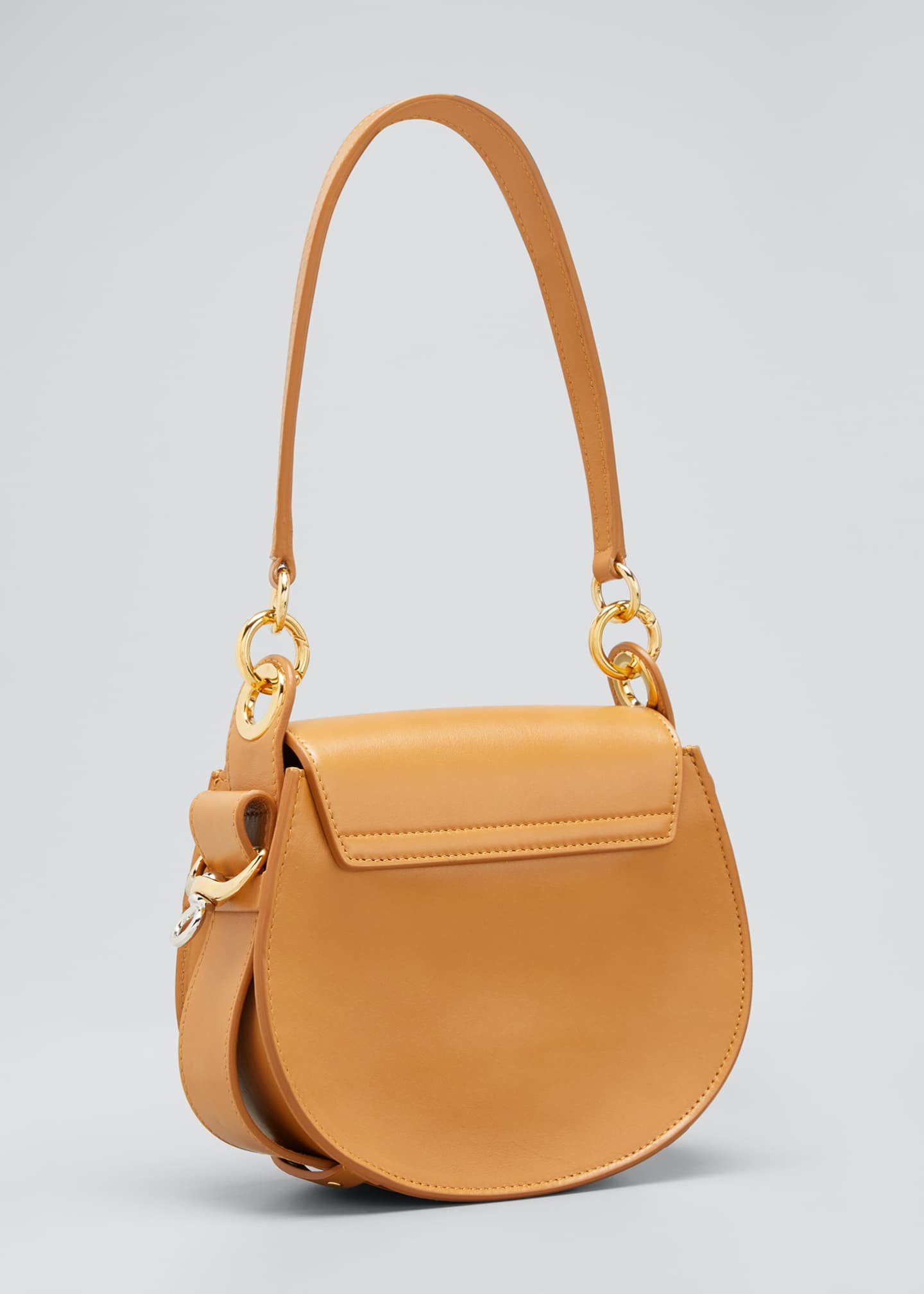 Image 3 of 5: Tess Small Leather/Suede Camera Crossbody Bag
