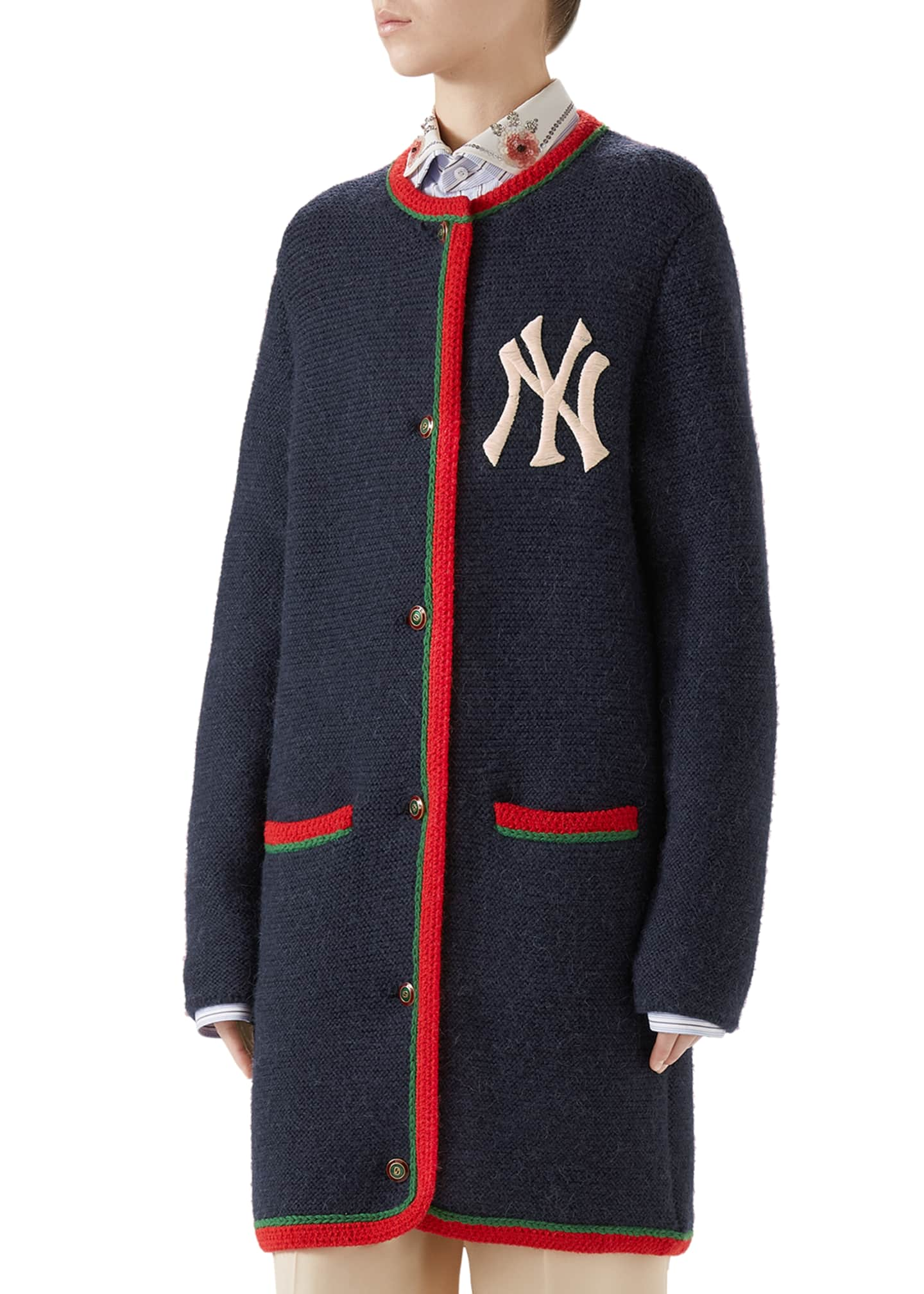 Gucci NY Yankees MLB Crewneck Cardigan w/ Back