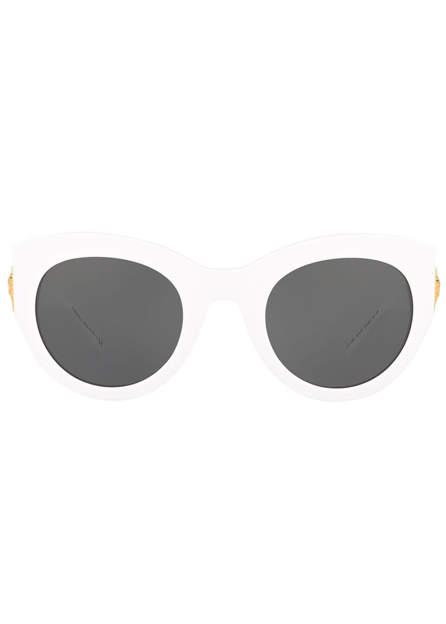 Image 2 of 3: Acetate Monochromatic Cat-Eye Sunglasses