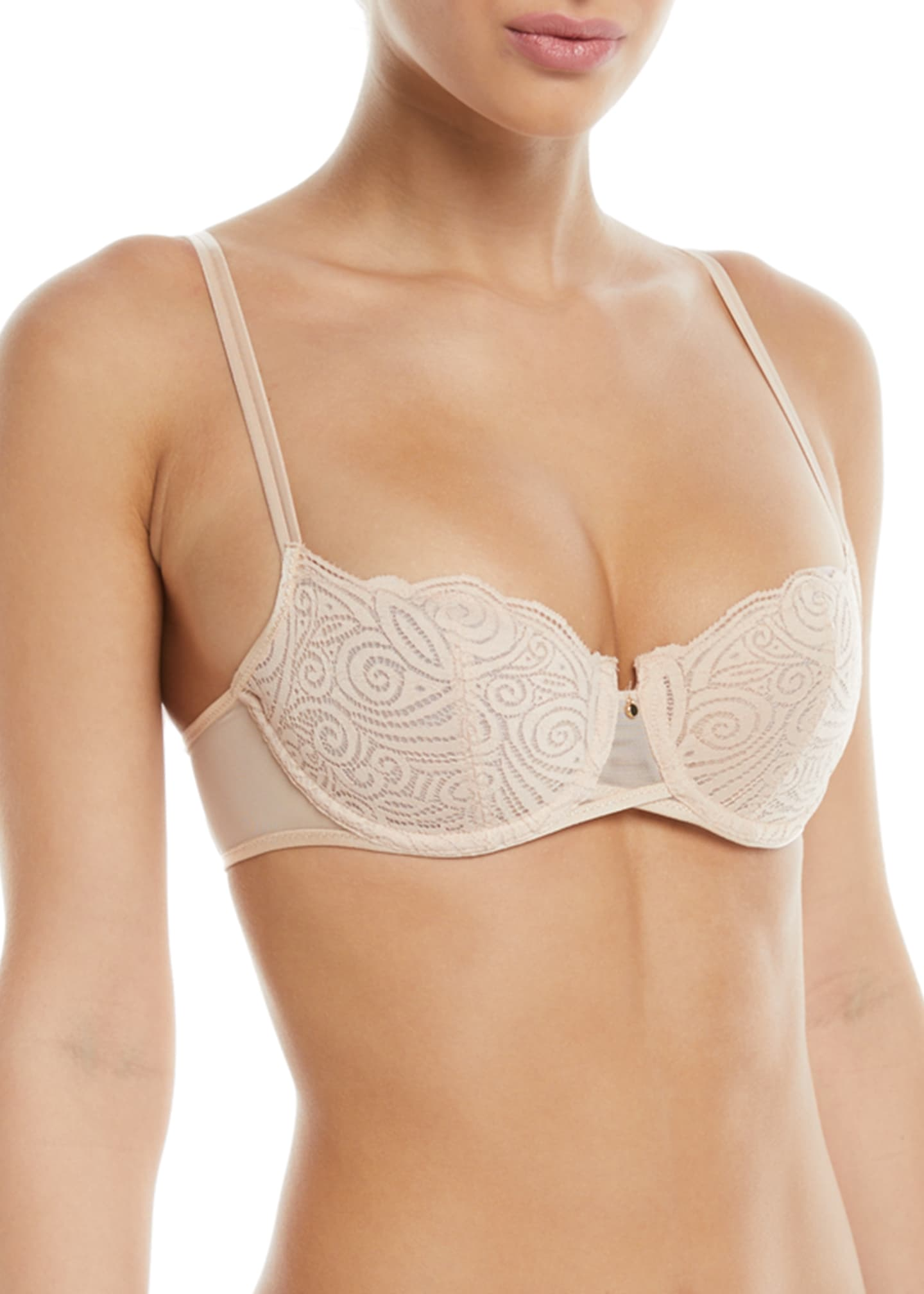 Chantelle Pyramide Unlined Lace Demi Bra
