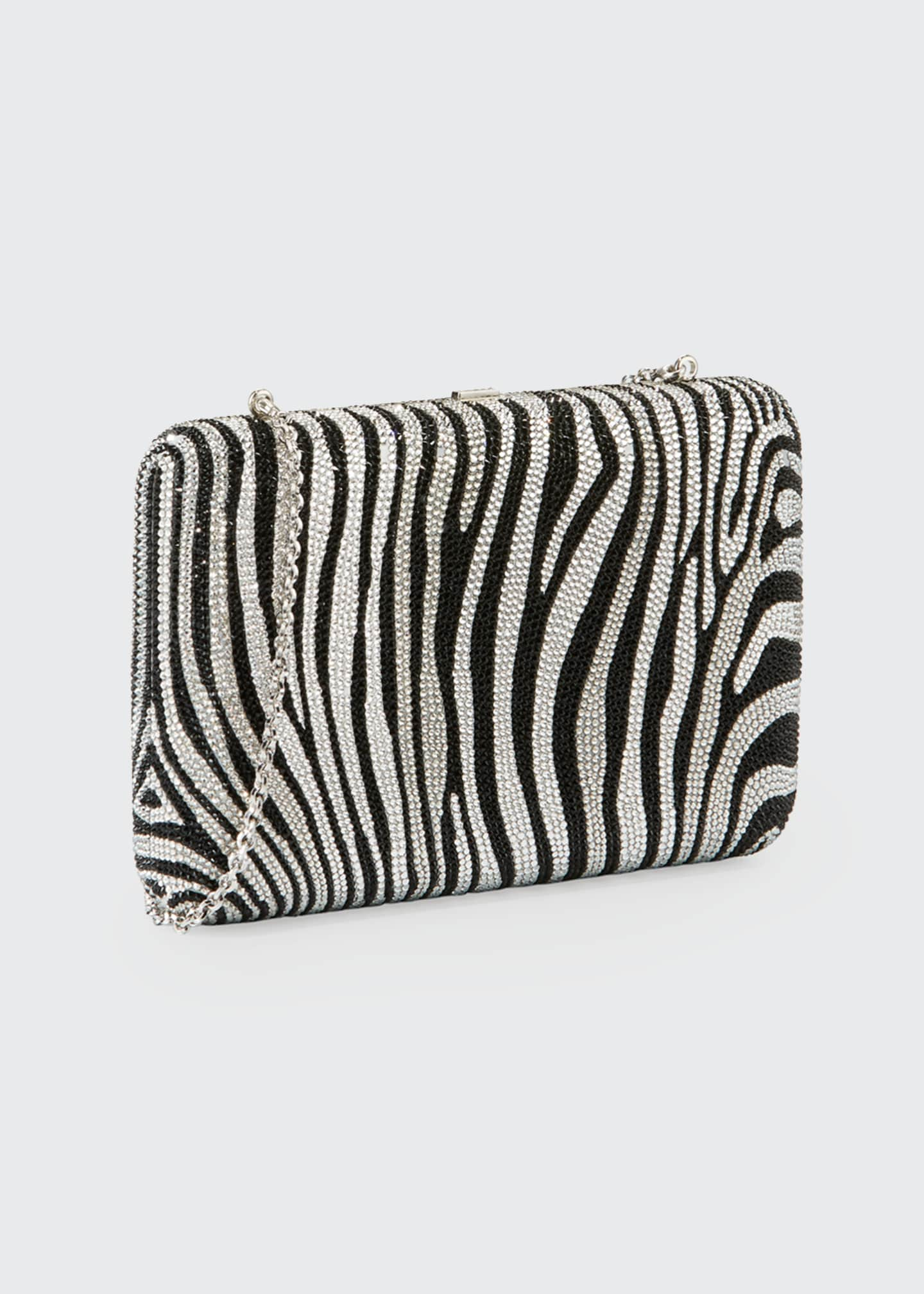 Image 4 of 6: Seamless Zebra Crystal Clutch Bag