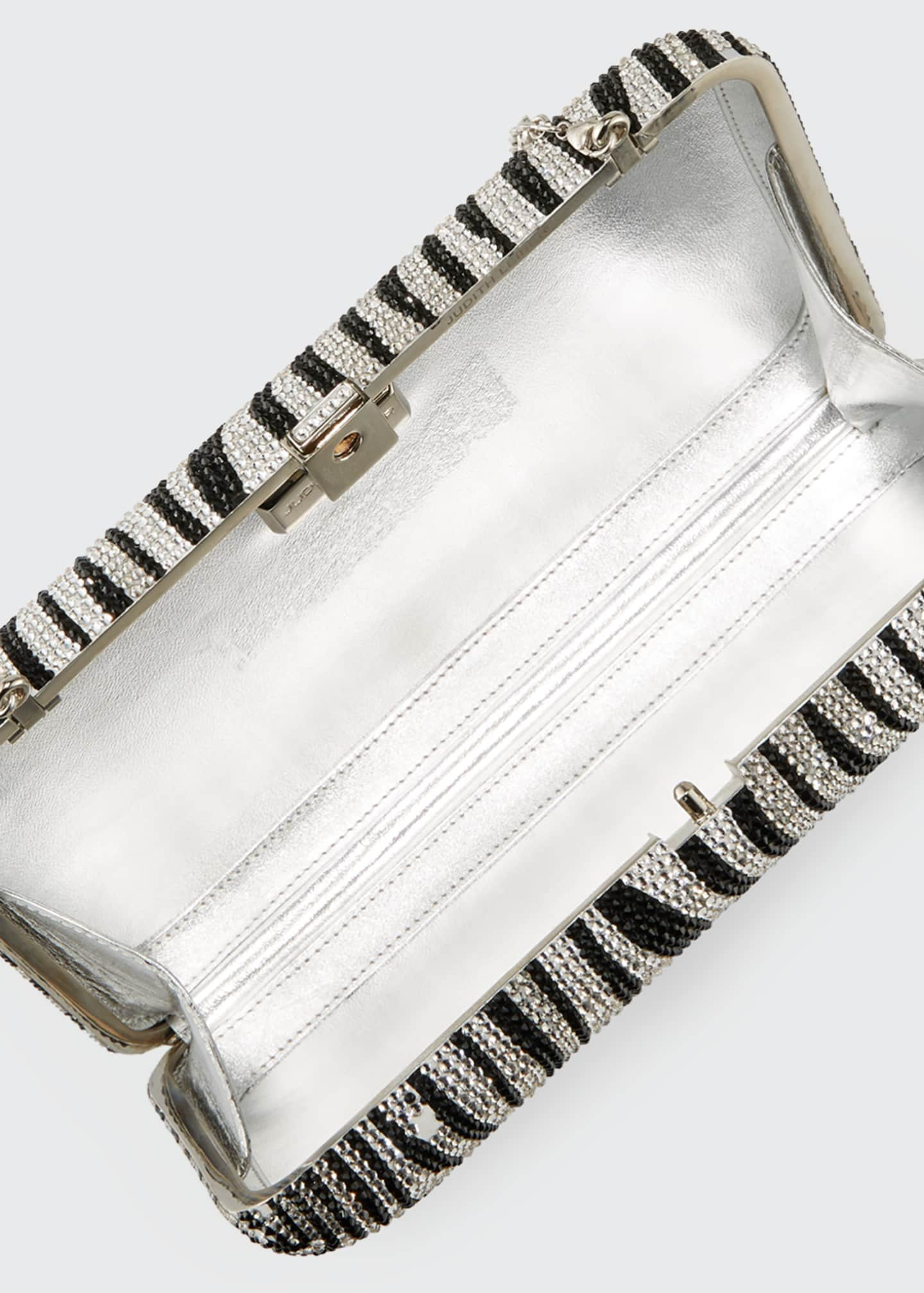 Image 5 of 6: Seamless Zebra Crystal Clutch Bag