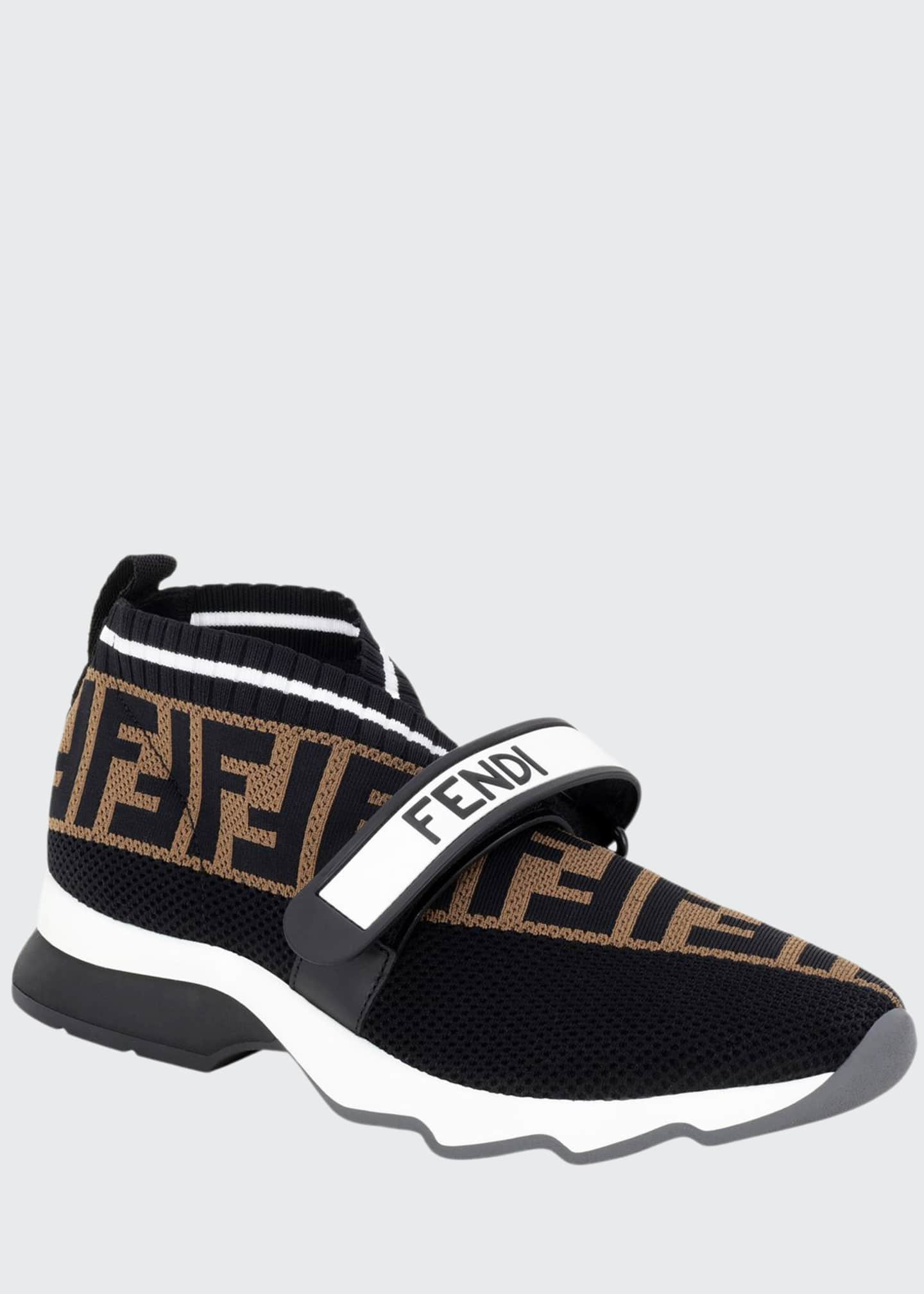 Fendi Rockoko FF Knit Sneakers