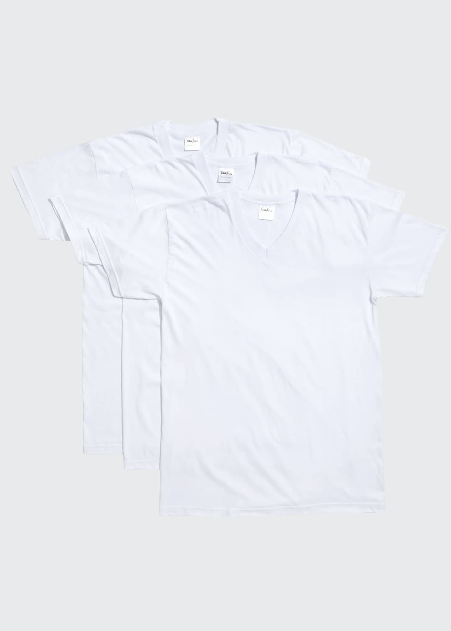 Neiman Marcus Men's 3-Pack Cotton Stretch T-Shirts