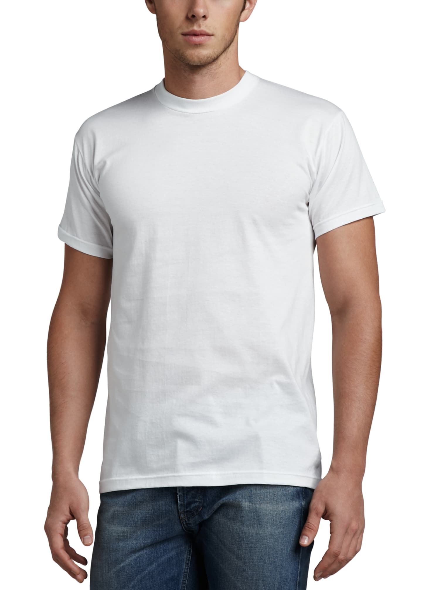 Image 2 of 3: Men's 3-Pack Cotton Stretch T-Shirts