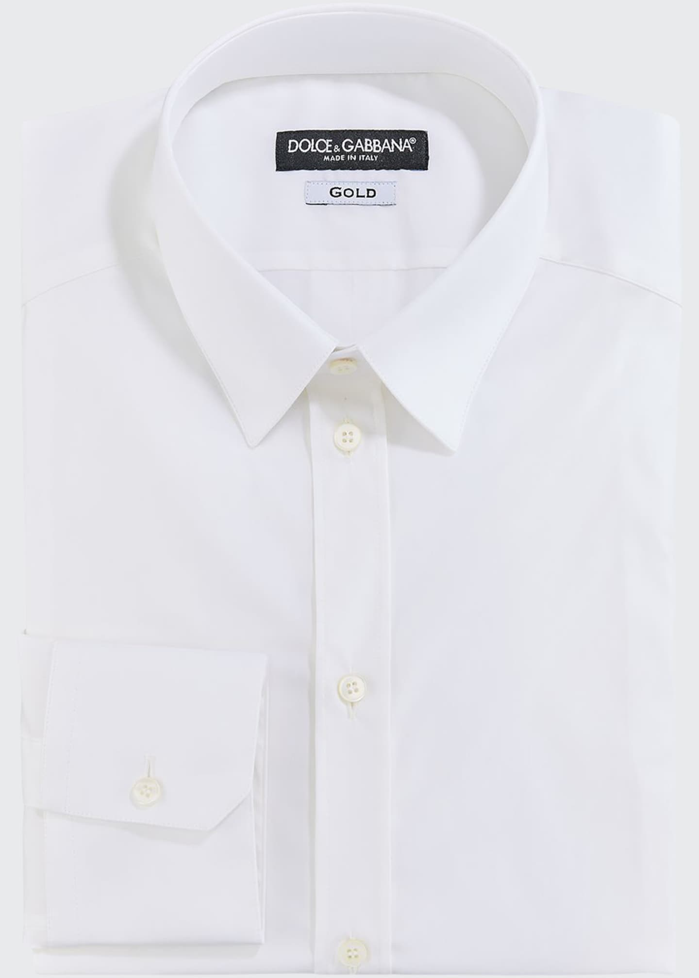 Image 1 of 2: Men's Solid Poplin Dress Shirt