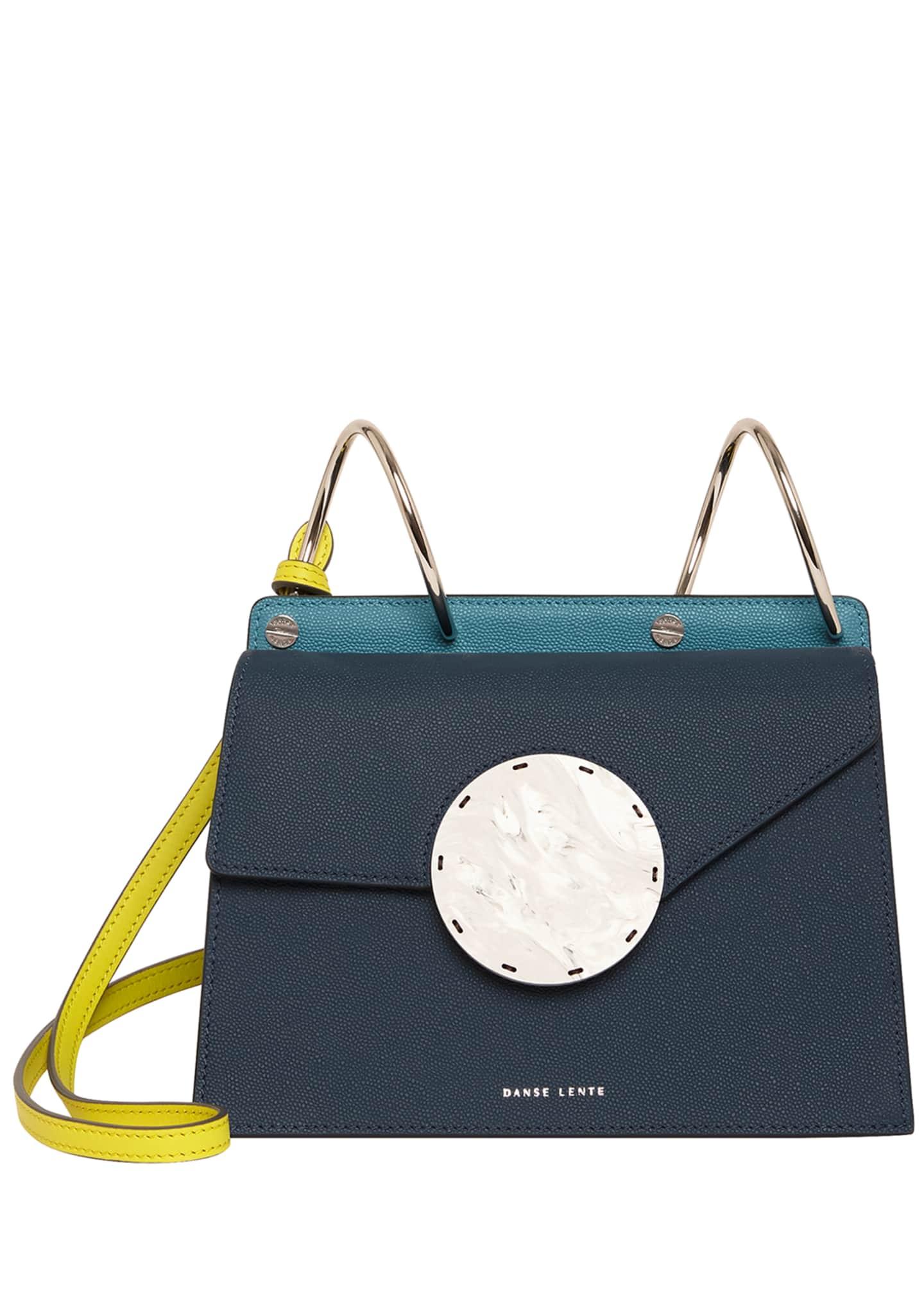 Danse Lente Phoebe Bis Leather Coil-Top Satchel Bag