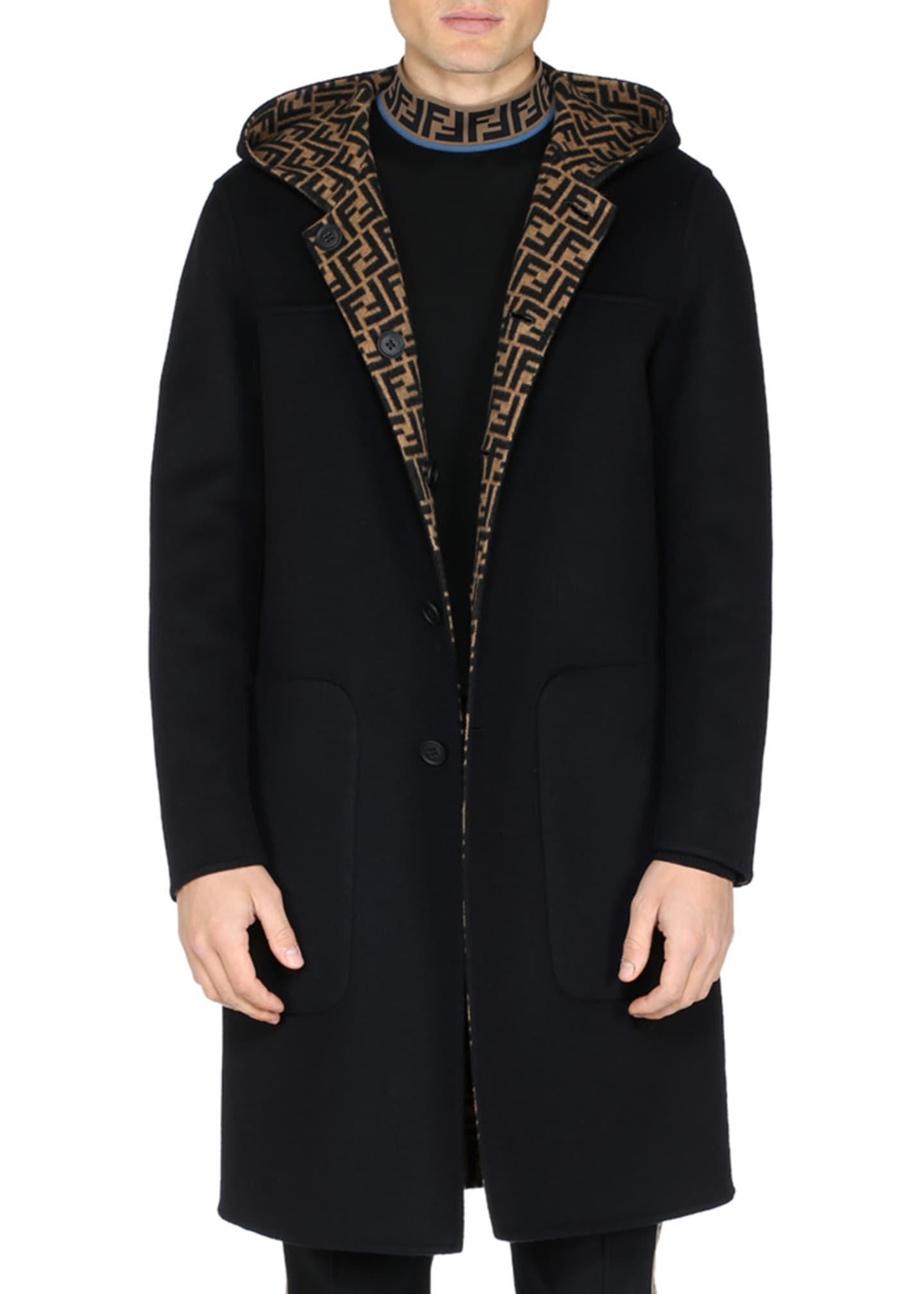 Fendi Men's Reversible Hooded Coat