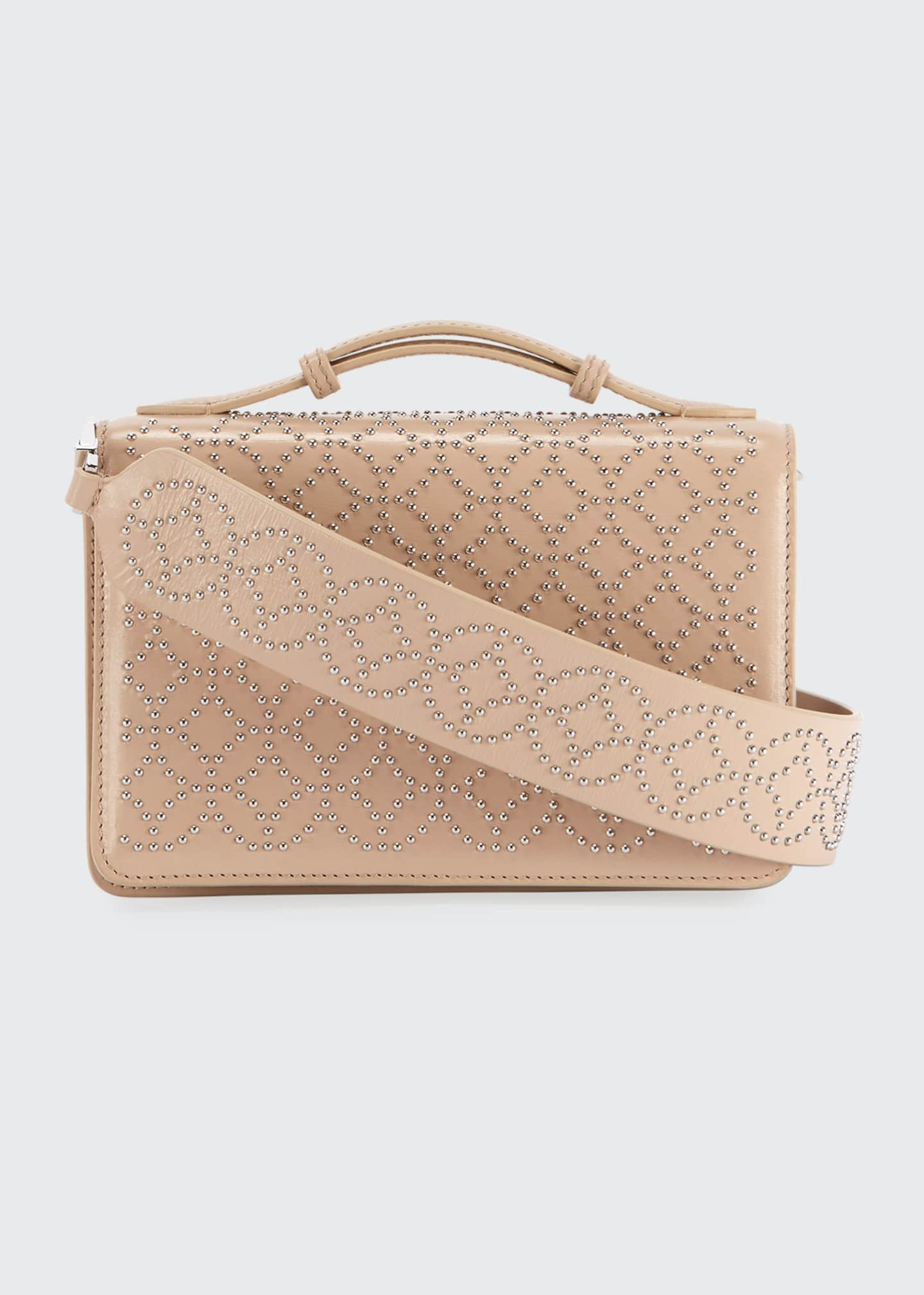 ALAIA Lux Studded Crossbody Clutch Bag