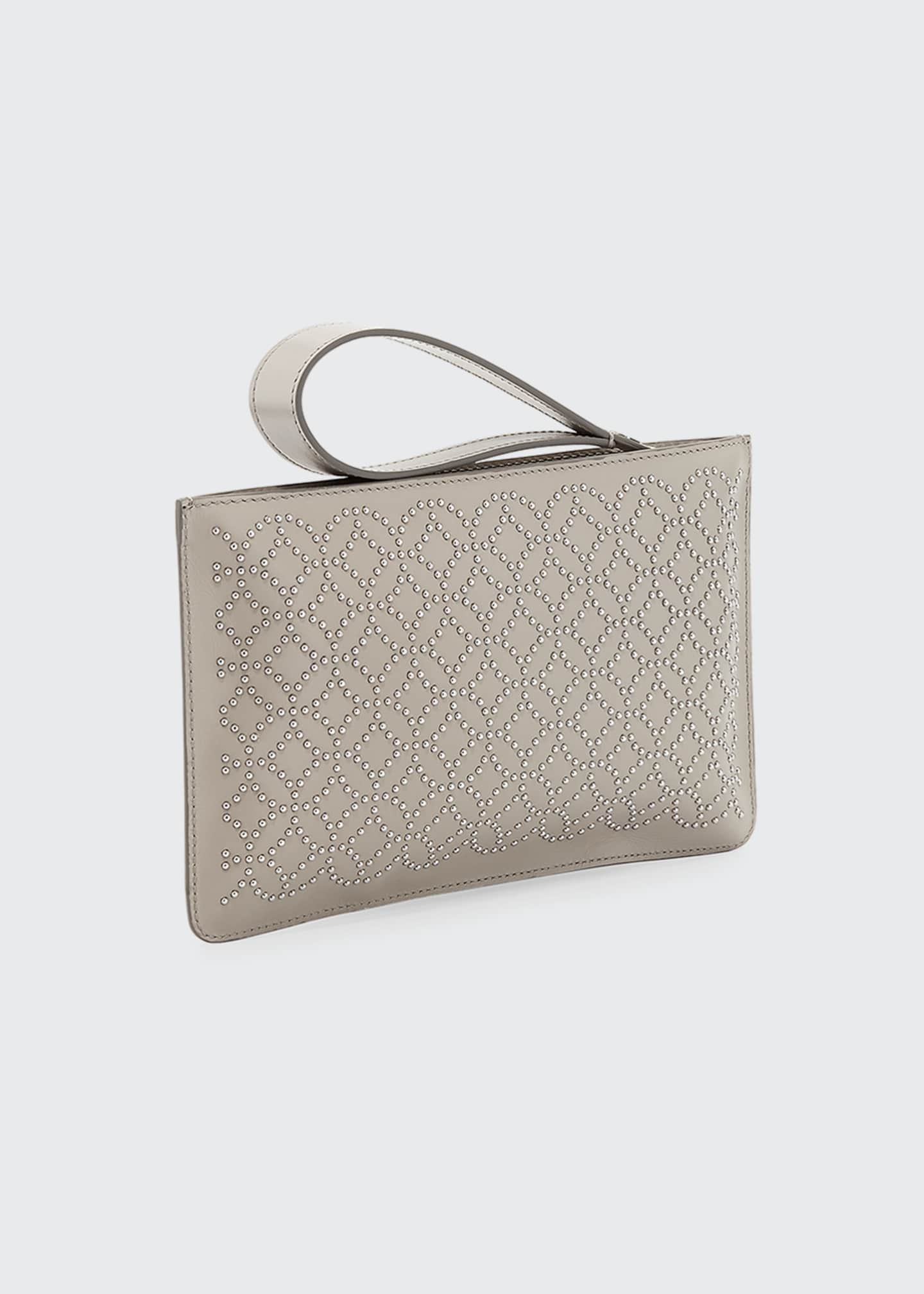 Image 2 of 3: Arabesque Studded Zip-Top Pouch