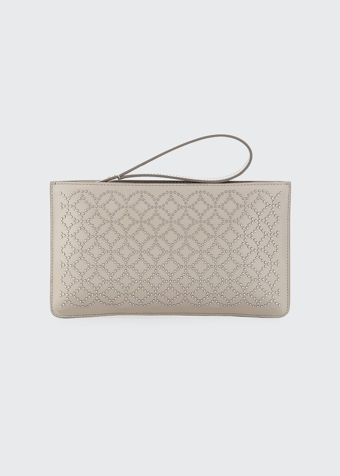 Image 1 of 3: Arabesque Studded Zip-Top Pouch