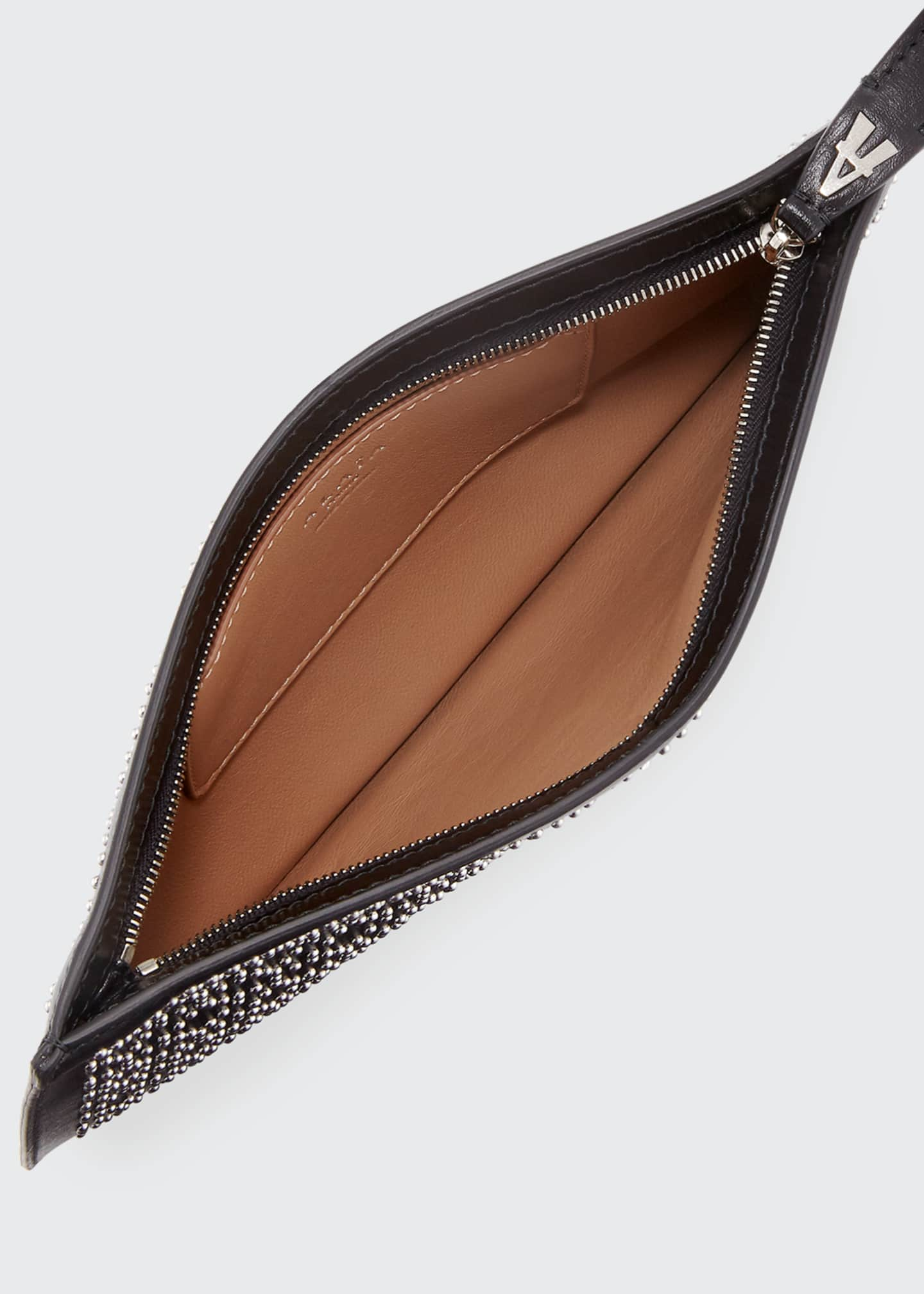 Image 3 of 3: Arabesque Studded Zip-Top Pouch