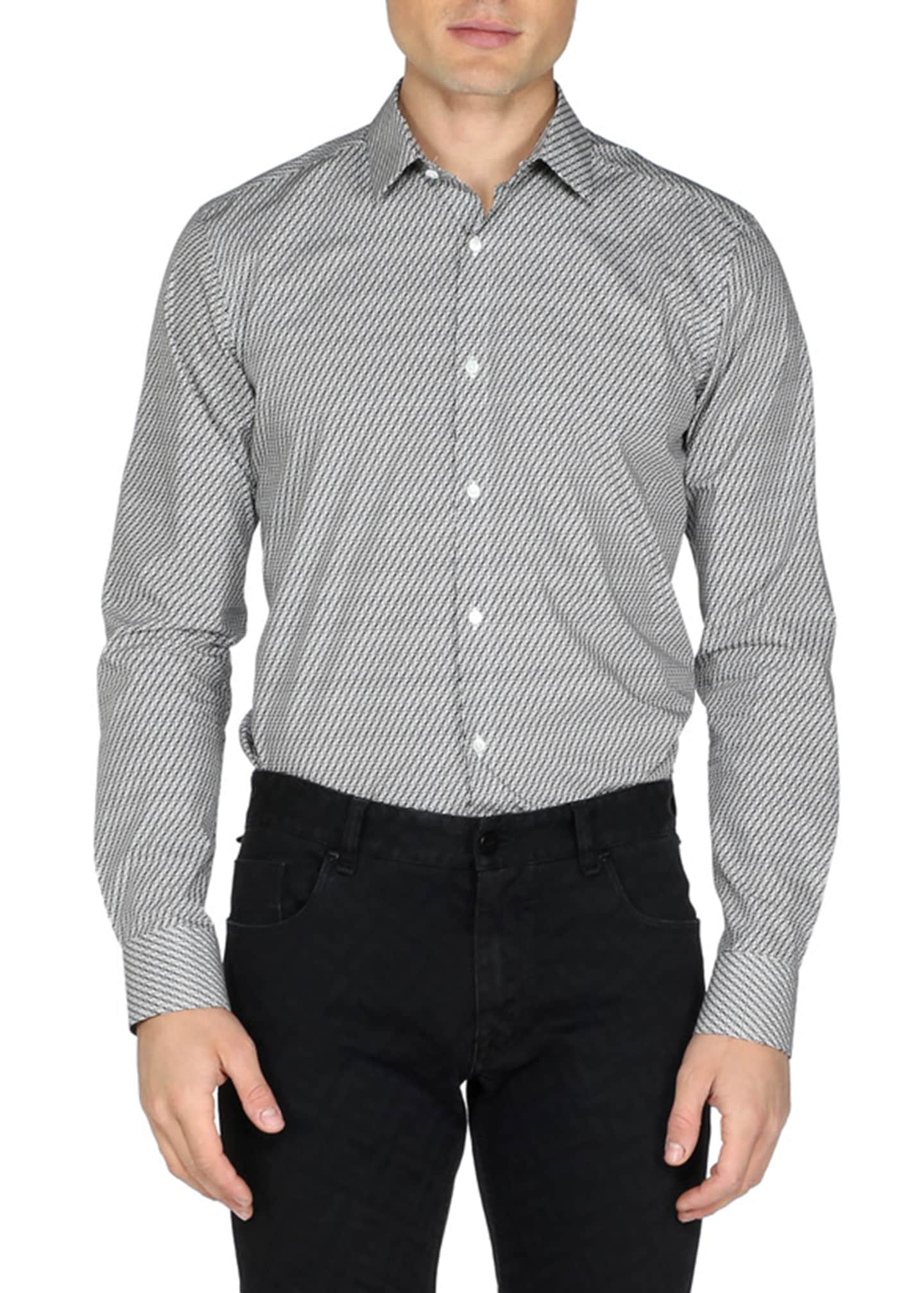 Fendi Men's Micro FF-Print Sport Shirt