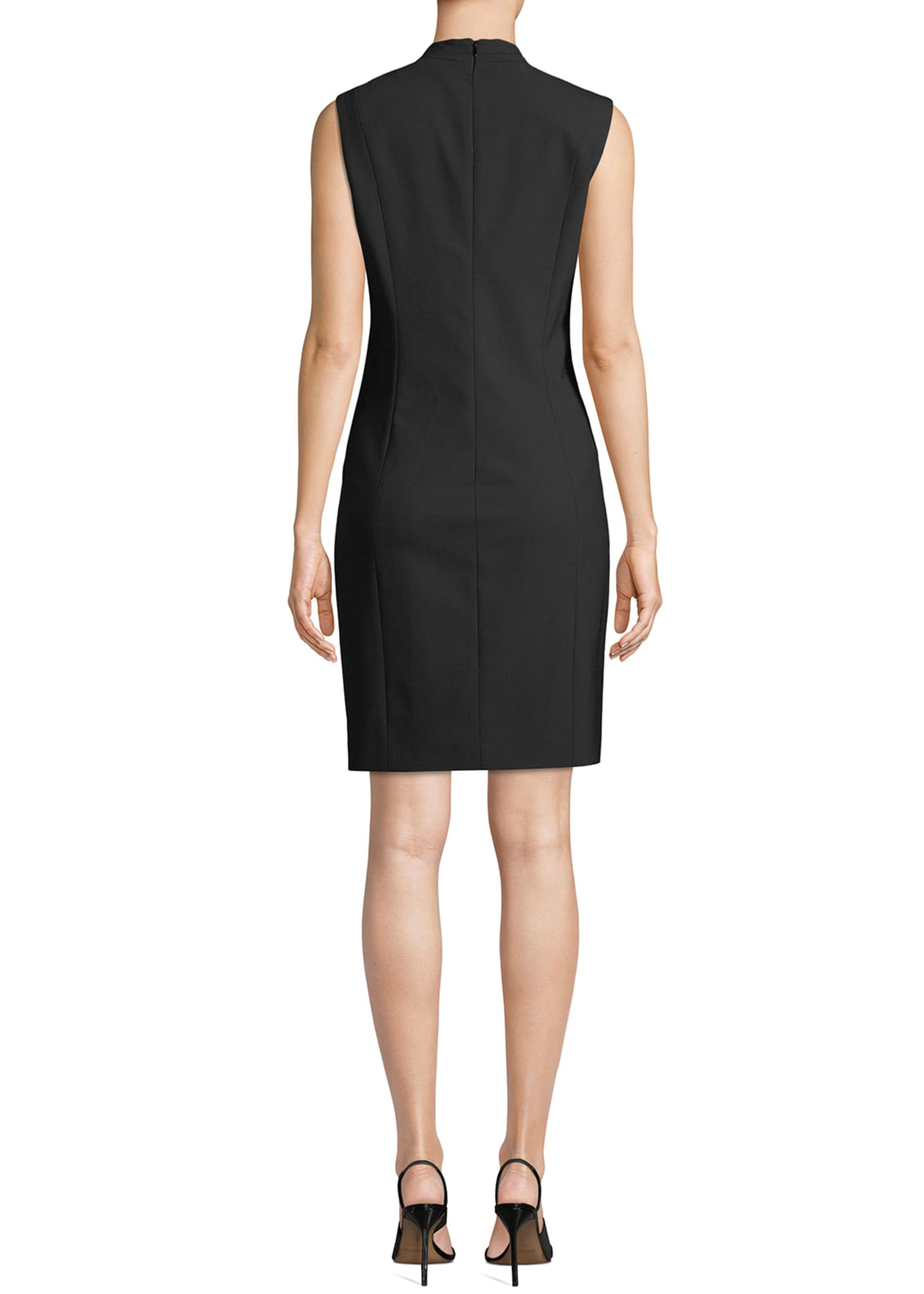 Image 2 of 3: Annabel Sleeveless V-Neck Shift Dress